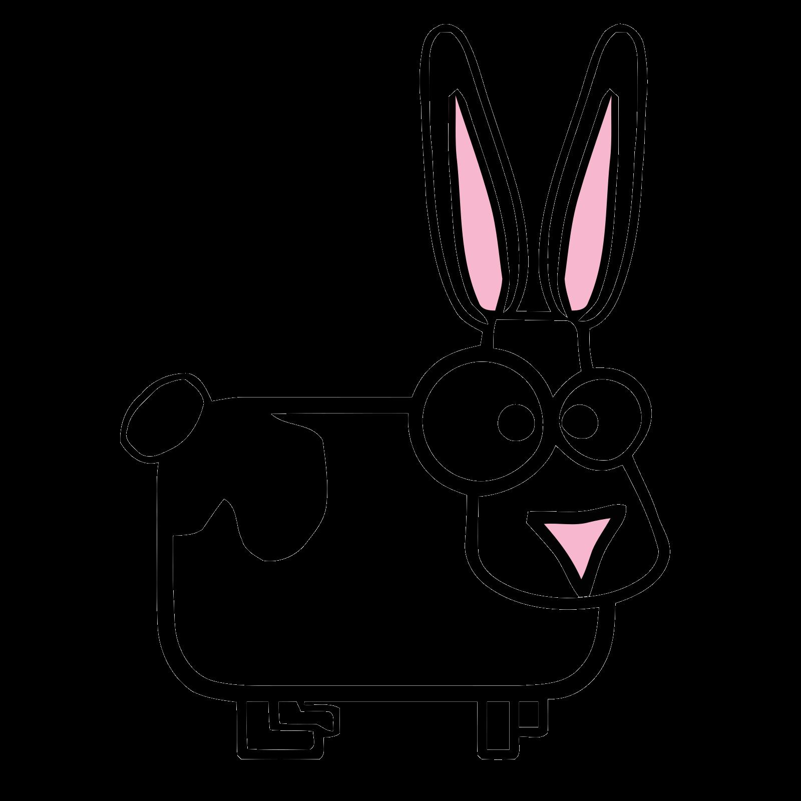 Bunny Clipart Jumping Cartoon - Rabbit Cartoon Png, Transparent Png ,  Transparent Png Image - PNGitem
