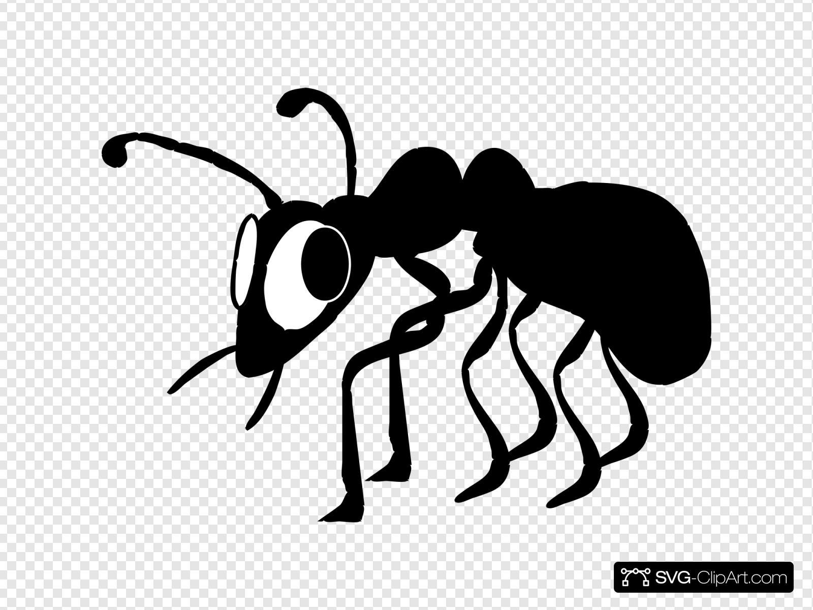 Cartoon Black Ant Svg Vector Cartoon Black Ant Clip Art Svg Clipart