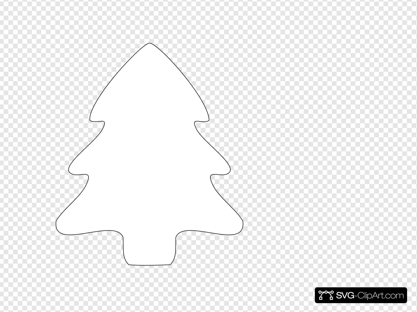 Christmas Tree Outline Clip Art Icon And Svg Svg Clipart