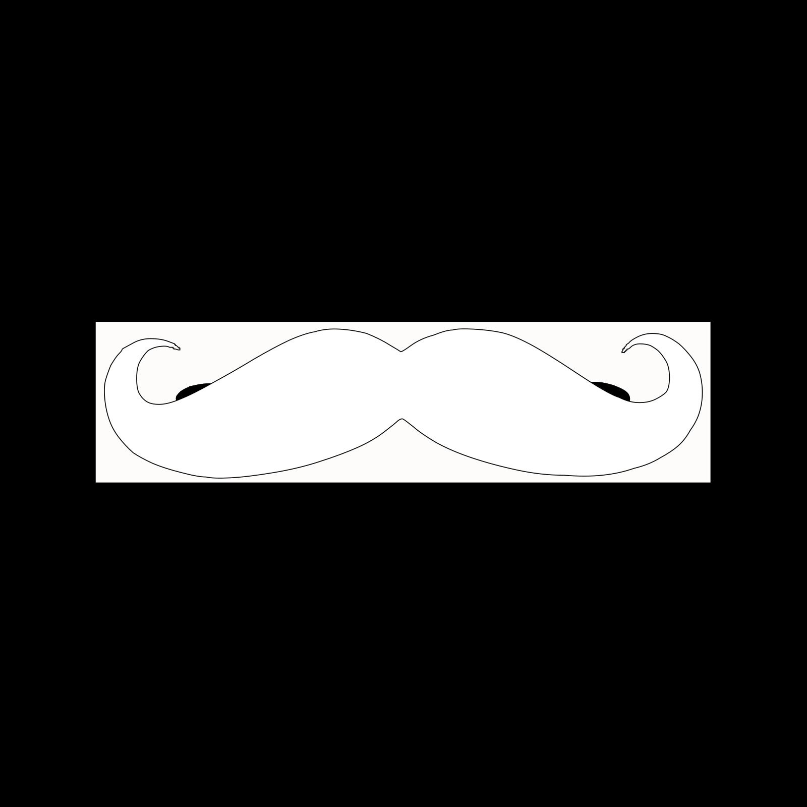Mustache outline. Clip art icon and