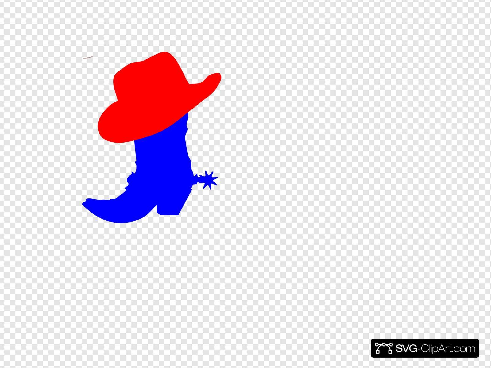 Cowboy hat svg. Red clip art icon