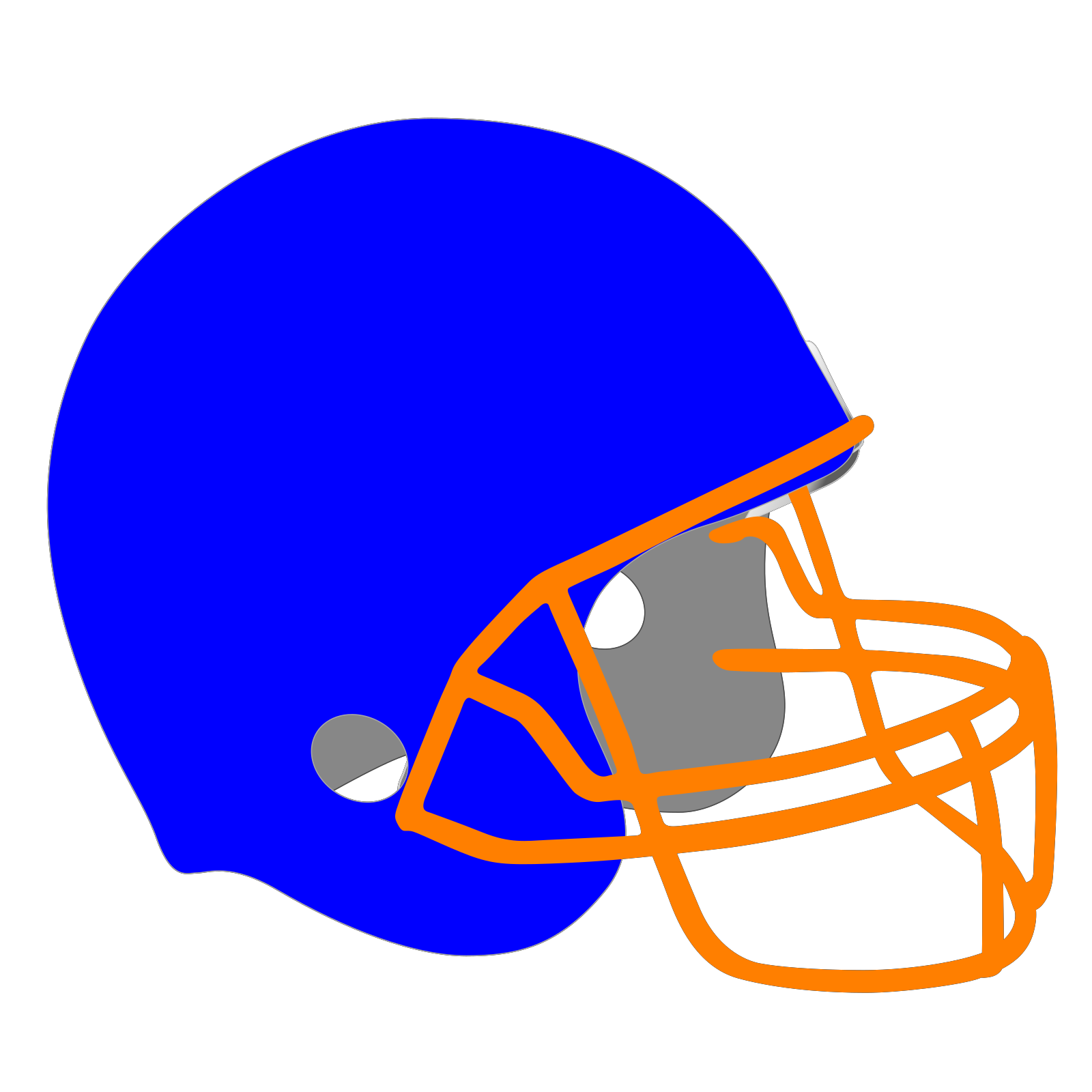 Football Helmet Clip Art Icon And Svg Svg Clipart
