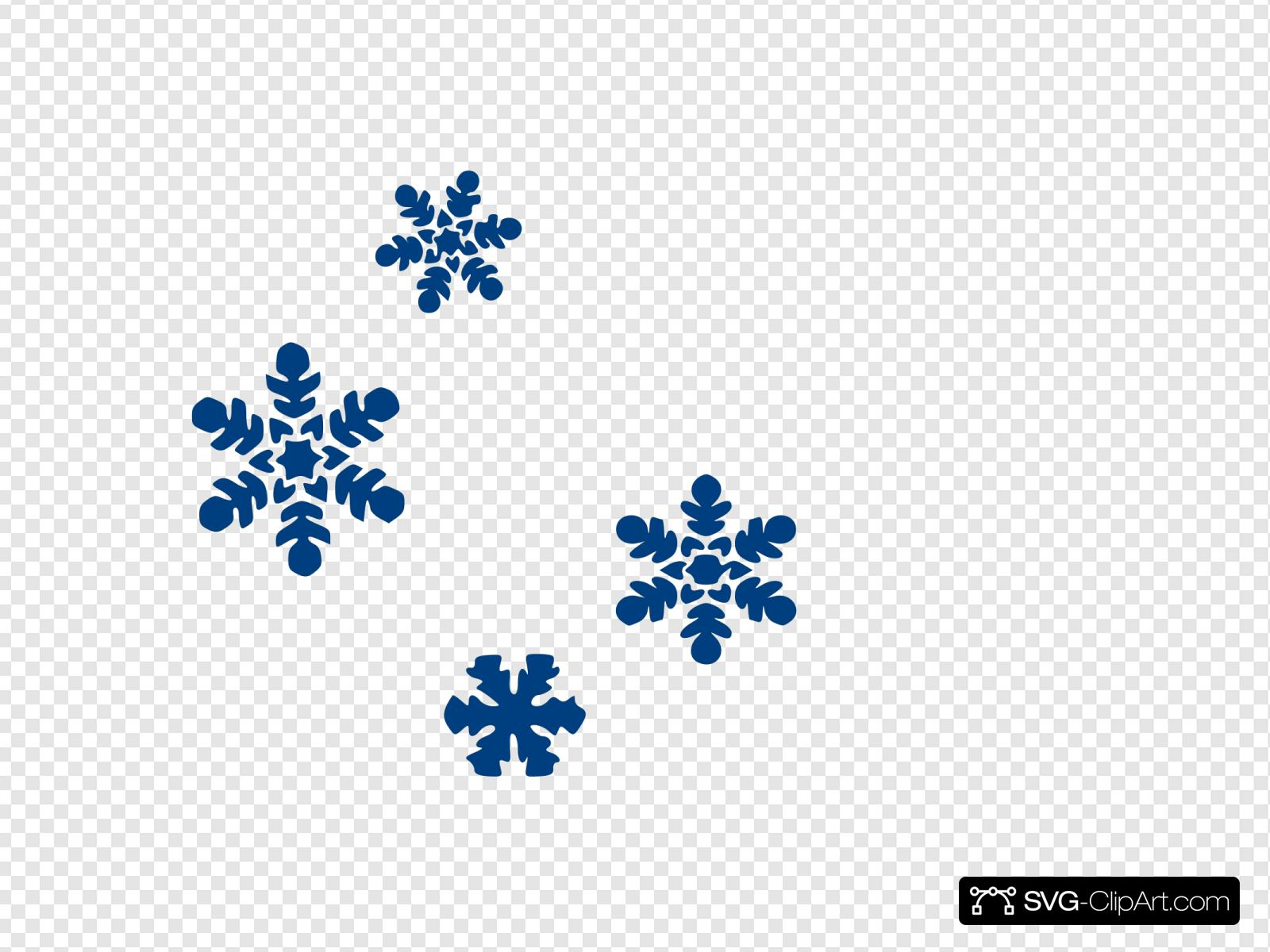 Snow blue. Flakes clip art icon