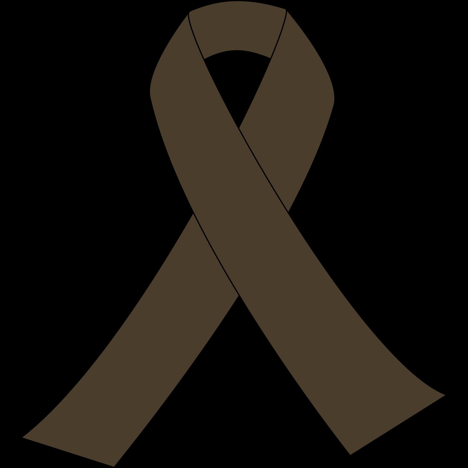 Ribbon brown. Awareness clip art icon