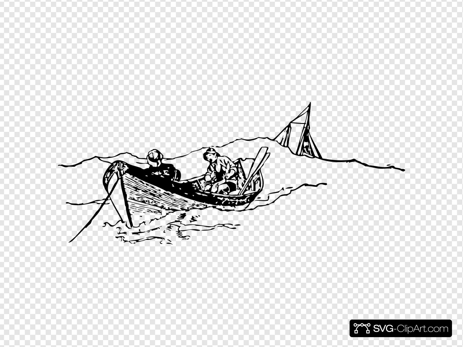 Download Small Rowing Boat With Fishermen Svg Vector Small Rowing Boat With Fishermen Clip Art Svg Clipart