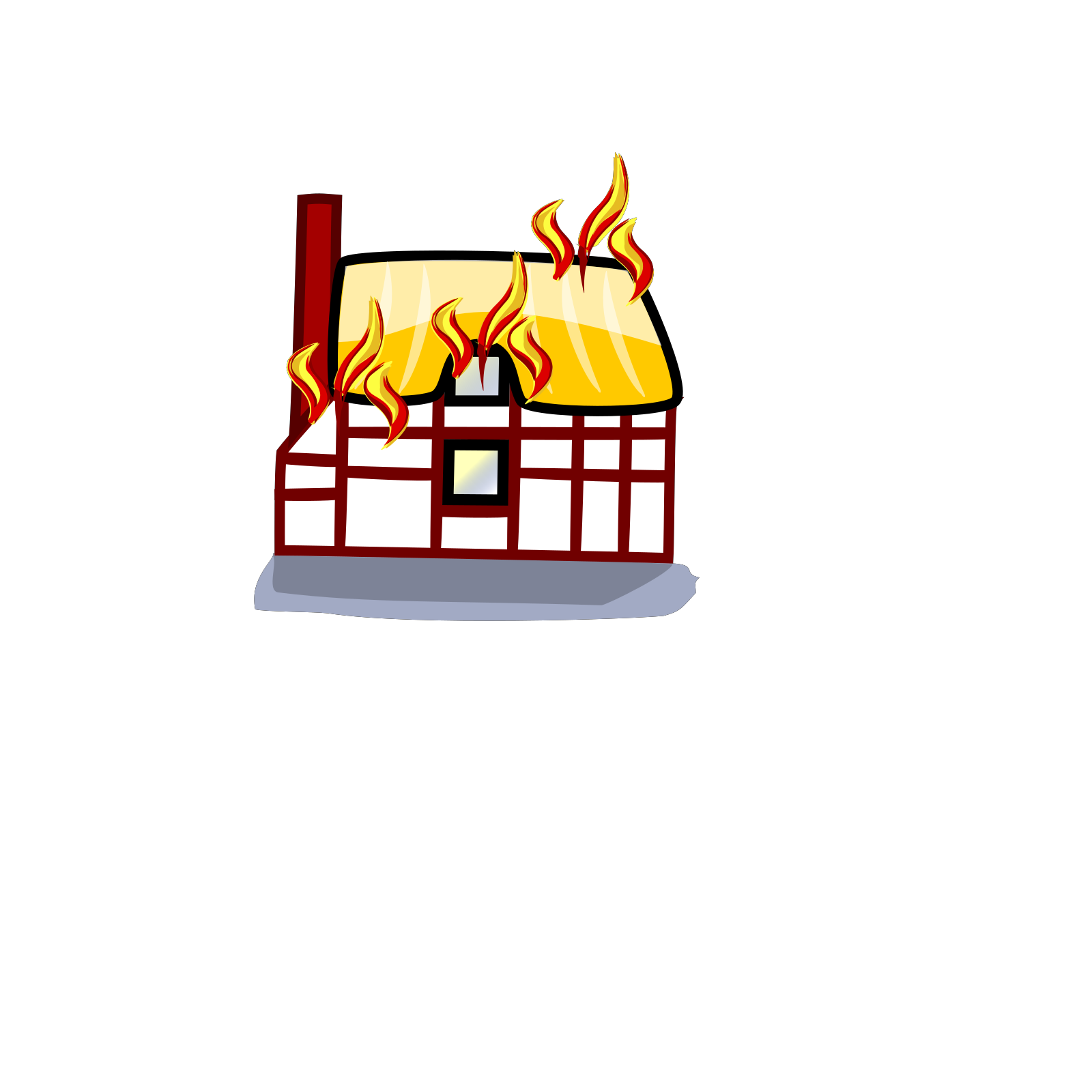 House Fire Insurance Svg Vector House Fire Insurance Clip Art Svg Clipart