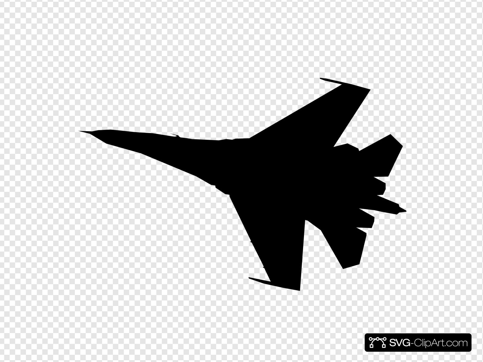 Airplane Fighter Silhouette Svg Vector Airplane Fighter