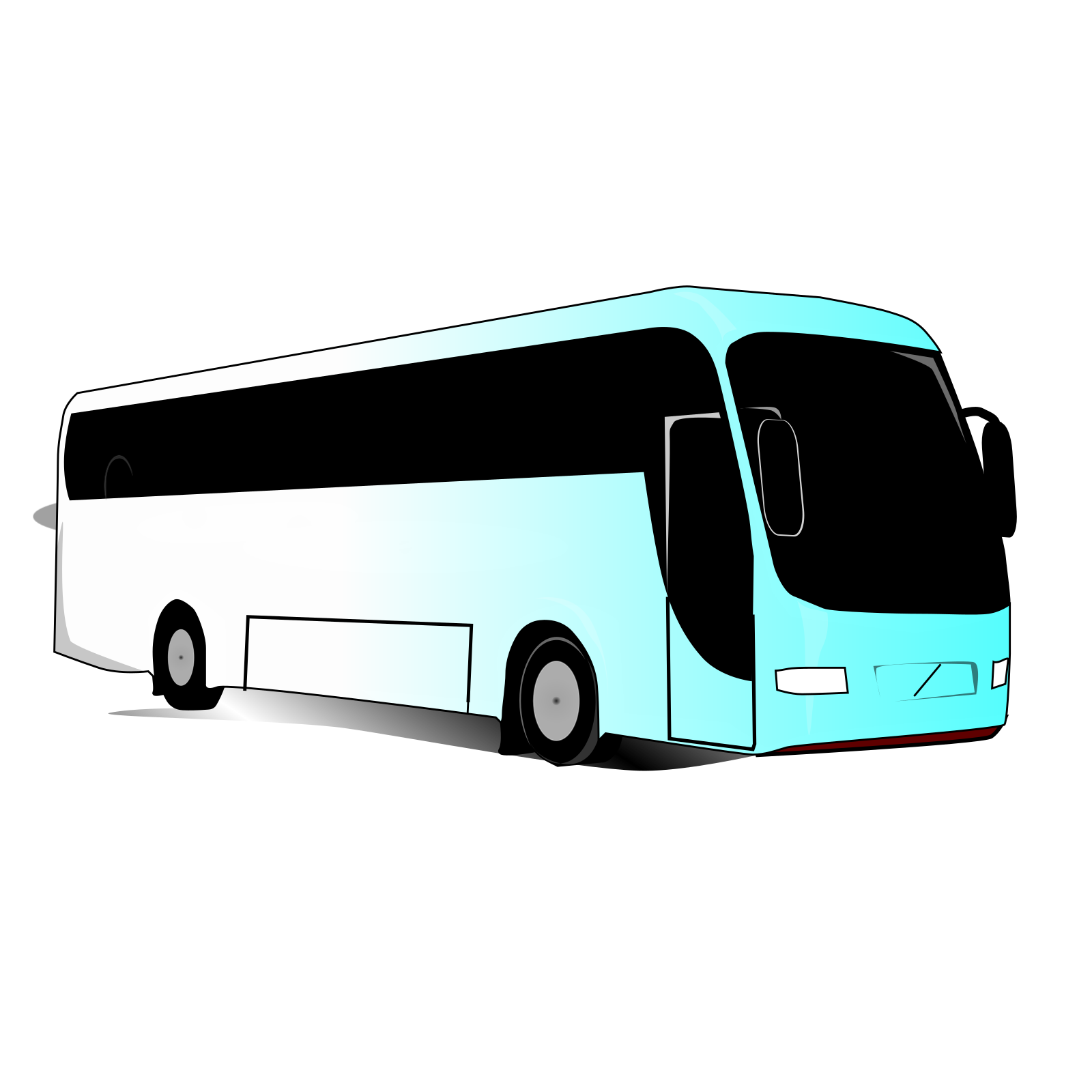 Blue Bus Clip Art Icon And SVG SVG Clipart