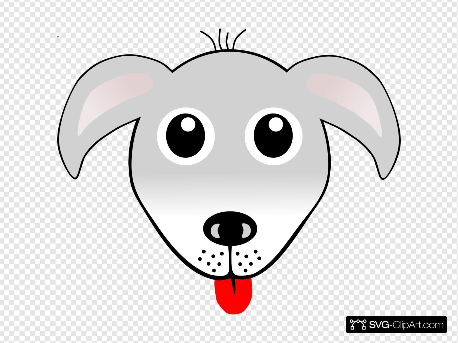 Dog Face Svg Vector Dog Face Clip Art Svg Clipart