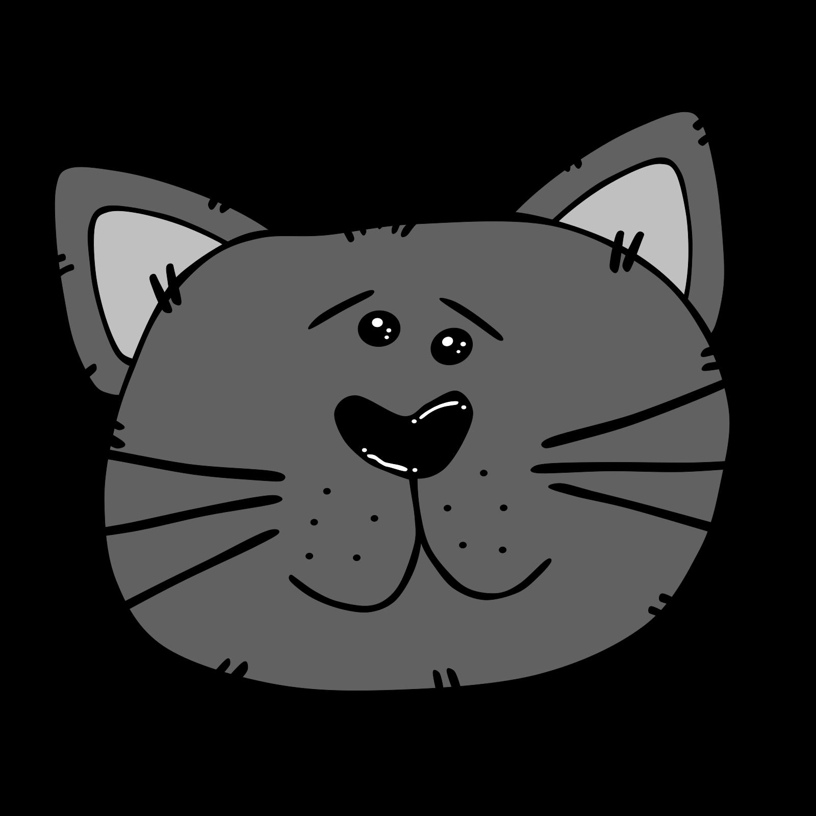 Black Cartoon Cat Face Svg Vector Black Cartoon Cat Face Clip Art