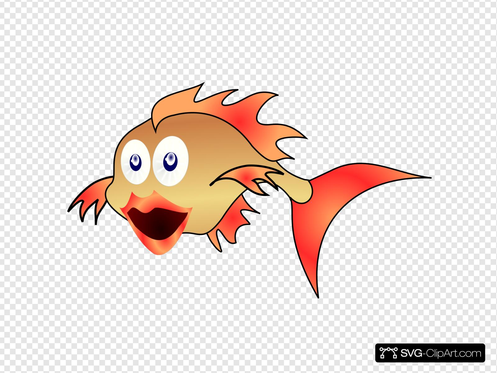 Download Gold Fish Svg Vector Gold Fish Clip Art Svg Clipart
