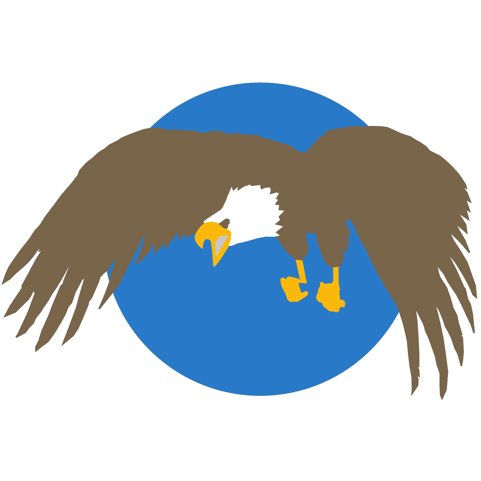 Eagle With Blue Circle Background Clip art, Icon and SVG