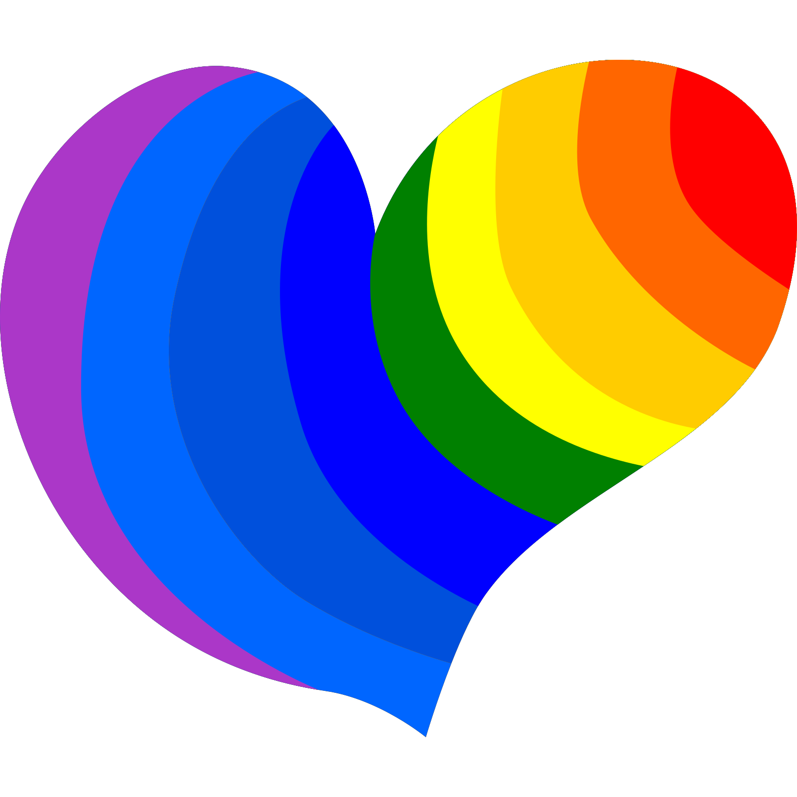 Rainbow Heart Clip art, Icon and SVG - SVG Clipart