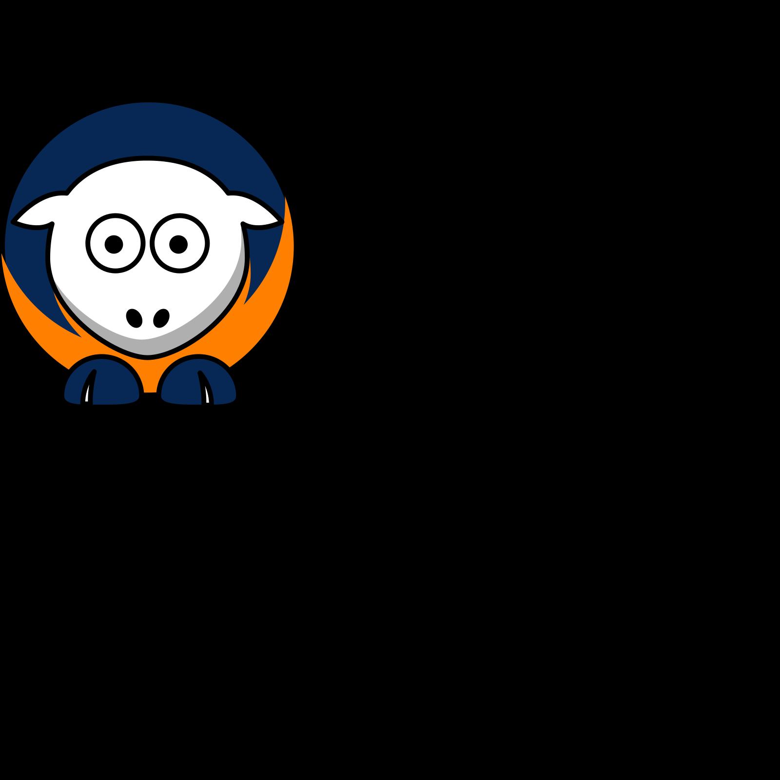 Astros Clip Art >> Sheep Houston Astros Team Colors Clip Art Icon And Svg