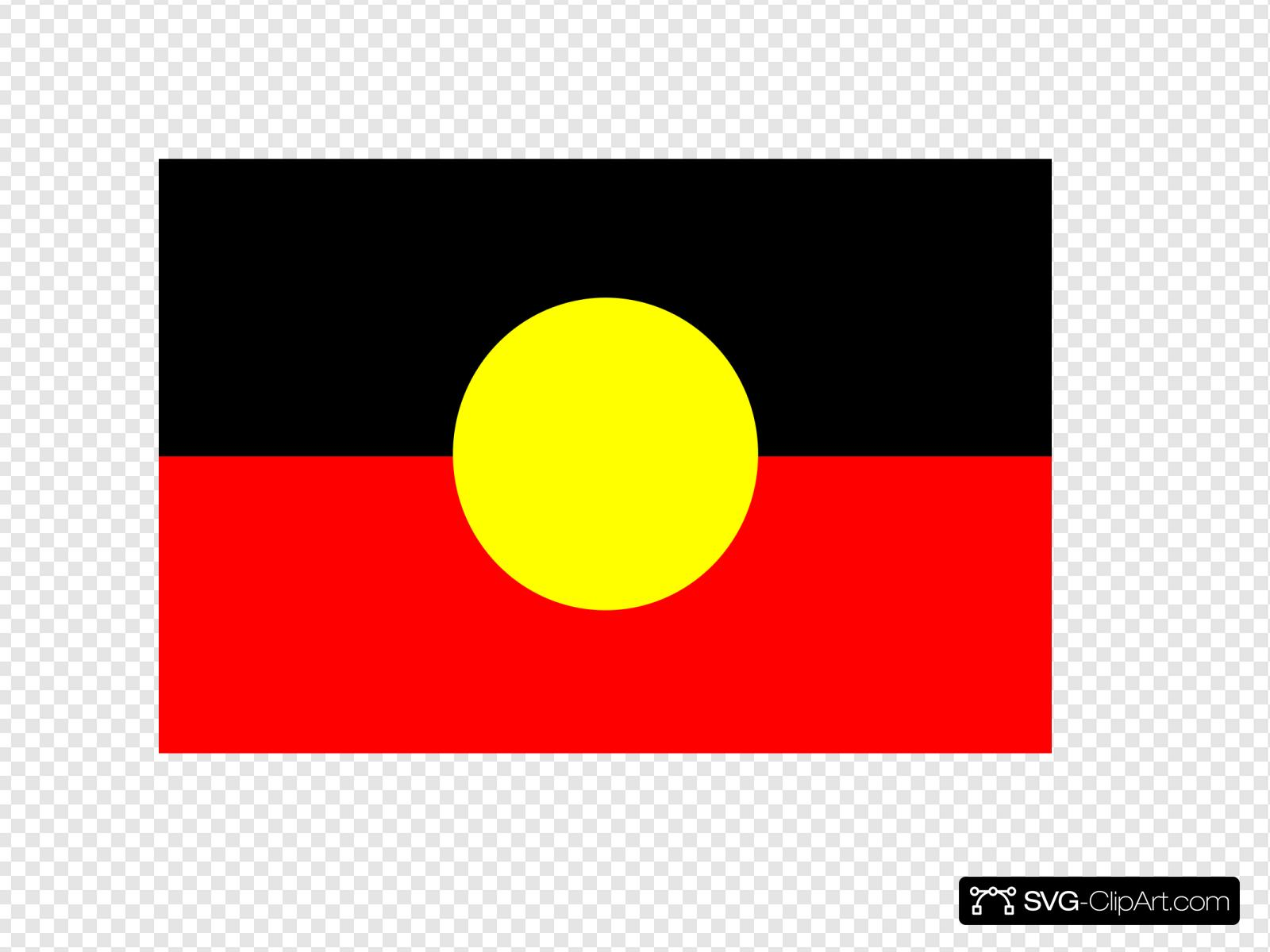 Australian Aboriginal Flag Clip Art Icon And Svg Svg Clipart