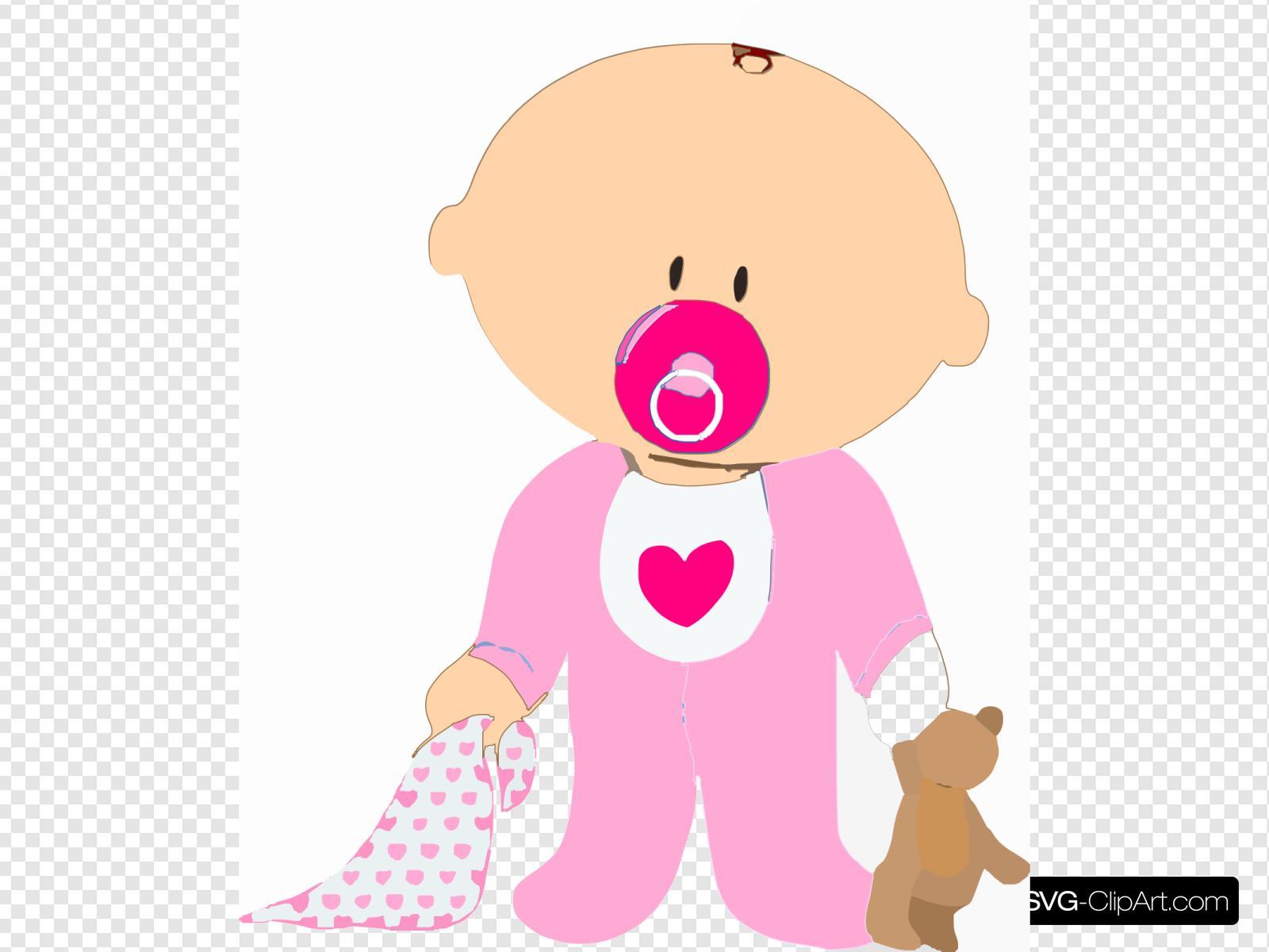 Babygirl Svg Vector Babygirl Clip Art Svg Clipart