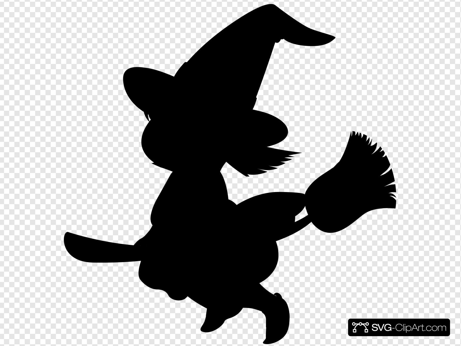 Witch Silhouette Svg Vector Witch Silhouette Clip Art Svg Clipart
