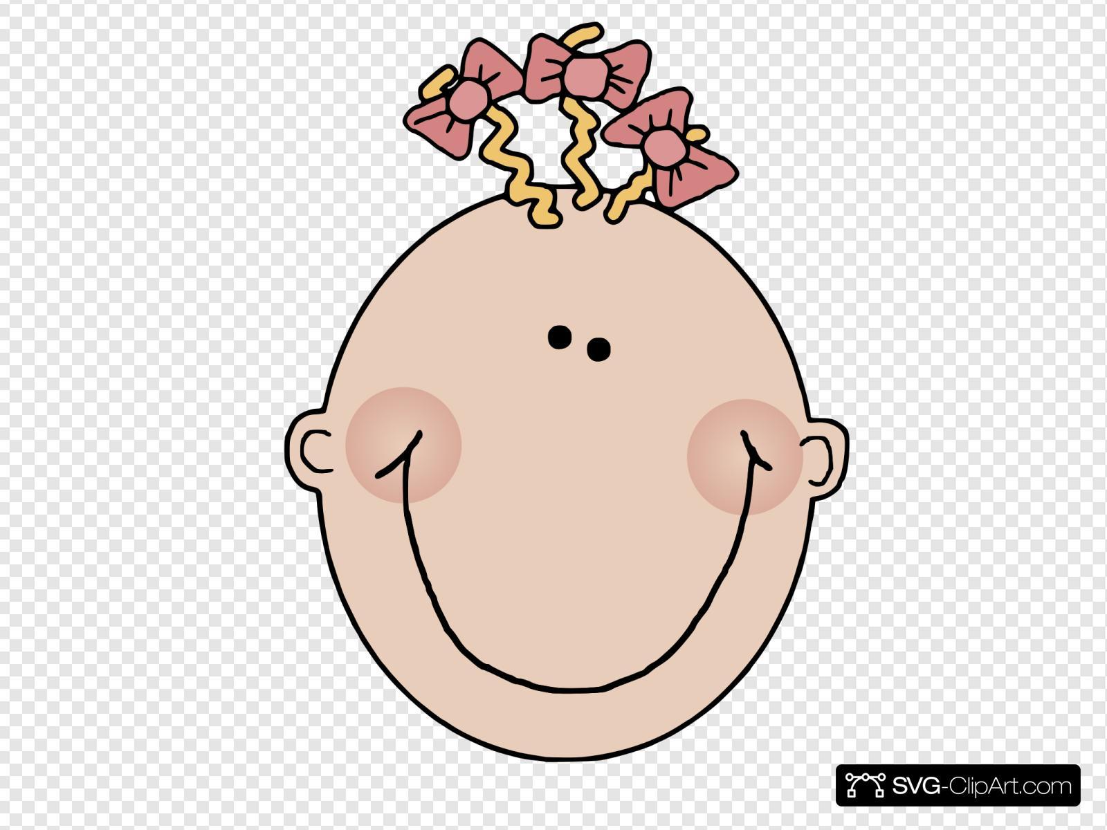 Cartoon Baby Girl Face Svg Vector Cartoon Baby Girl Face Clip Art Svg Clipart