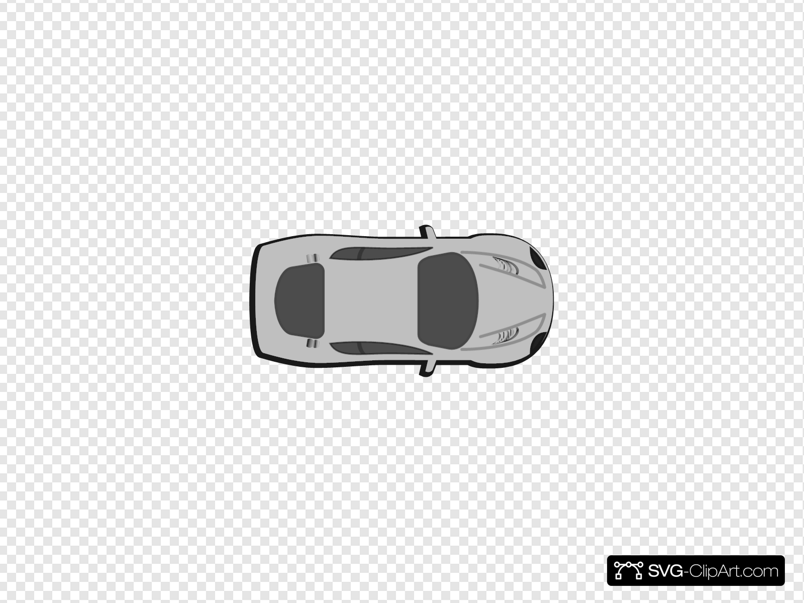 Gray Car Top View 0 Clip Art Icon And Svg Svg Clipart