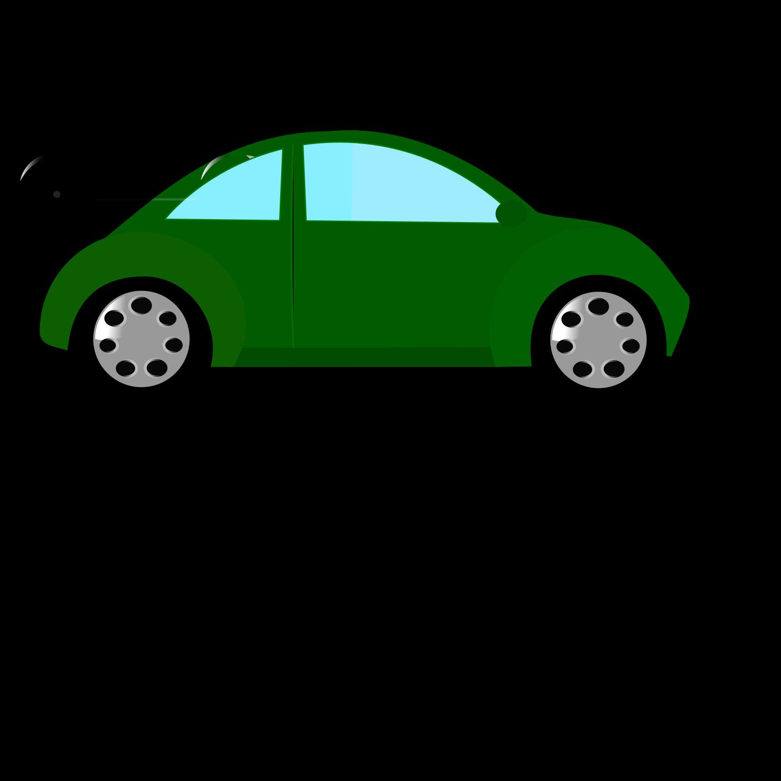 Car green. Dark clip art icon