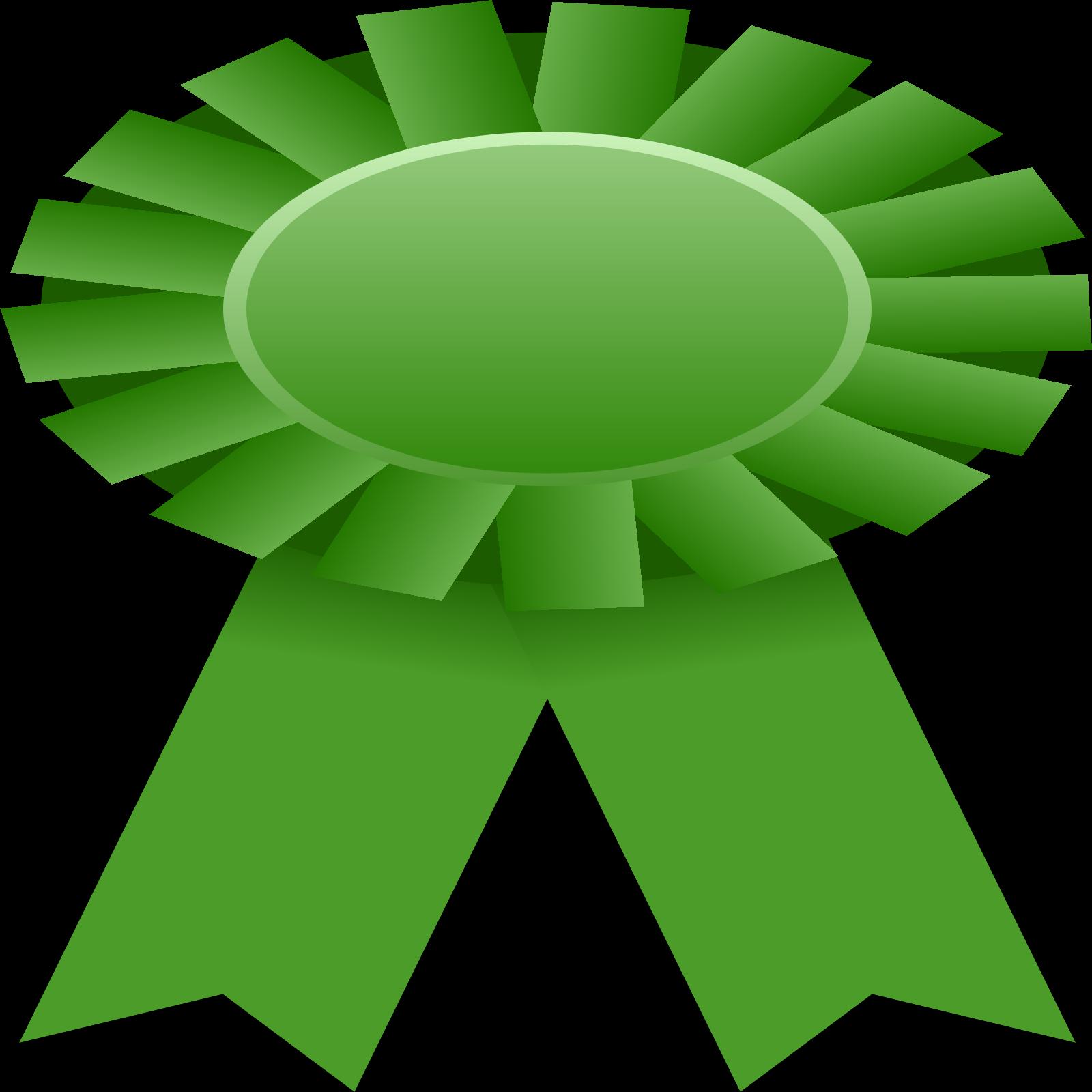 Ribbon green. Clip art icon and