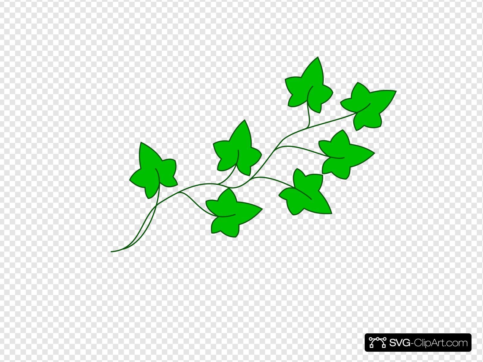 Flower Vine Clipart 13, - Green Leaf Border Clip Art - Free Transparent PNG  Clipart Images Download