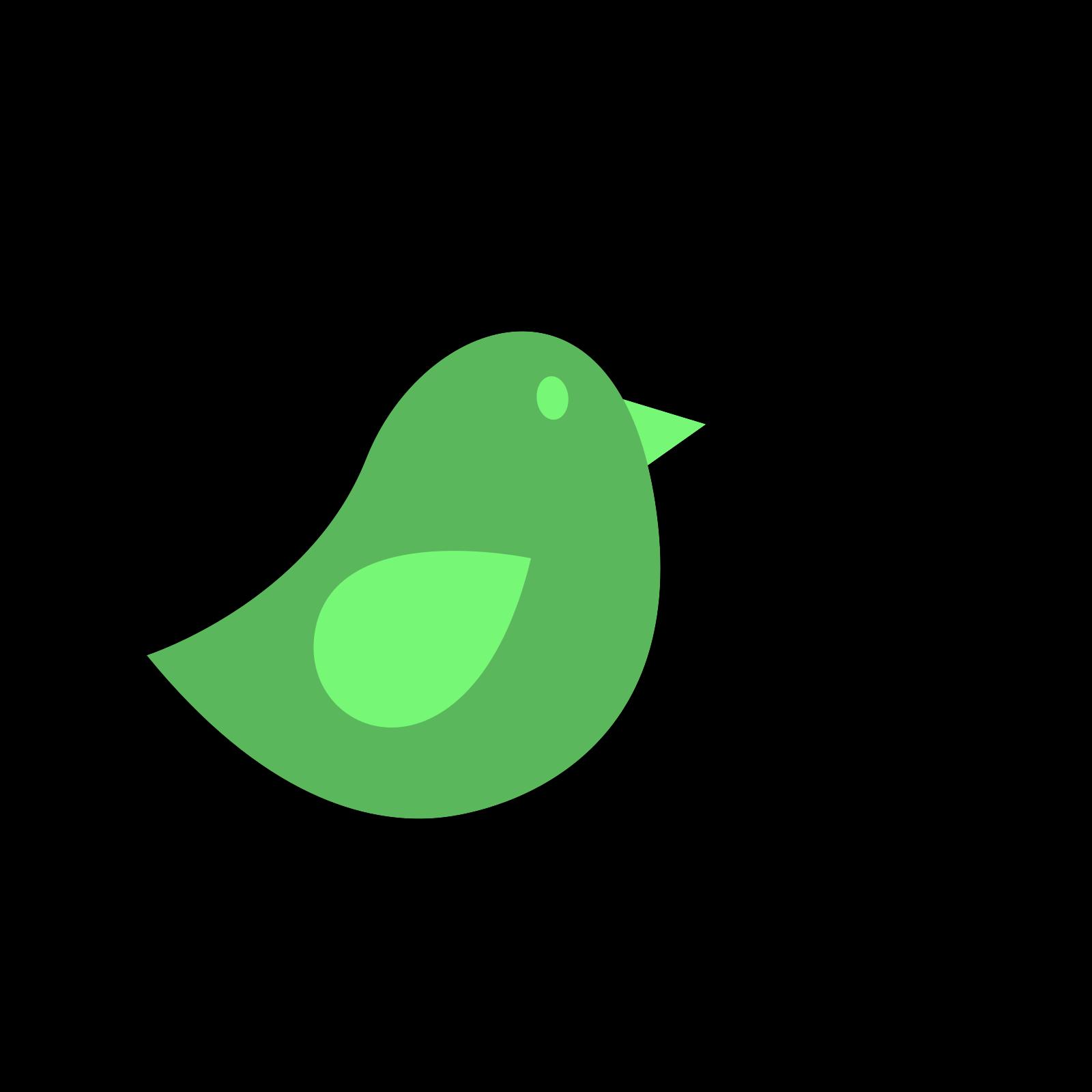 Birds green. Bird clip art icon