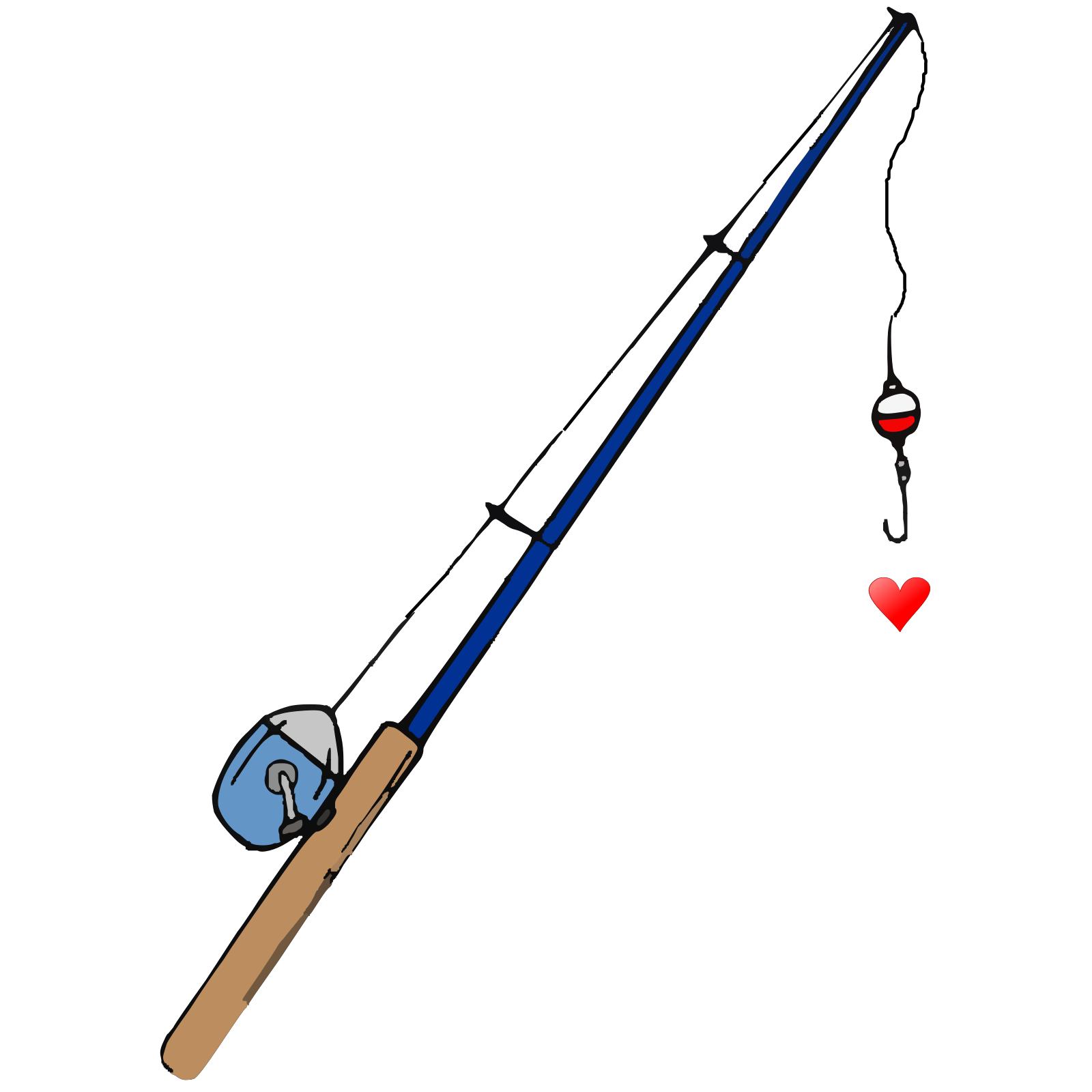 Download Fishing Pole Heart Svg Vector Fishing Pole Heart Clip Art Svg Clipart