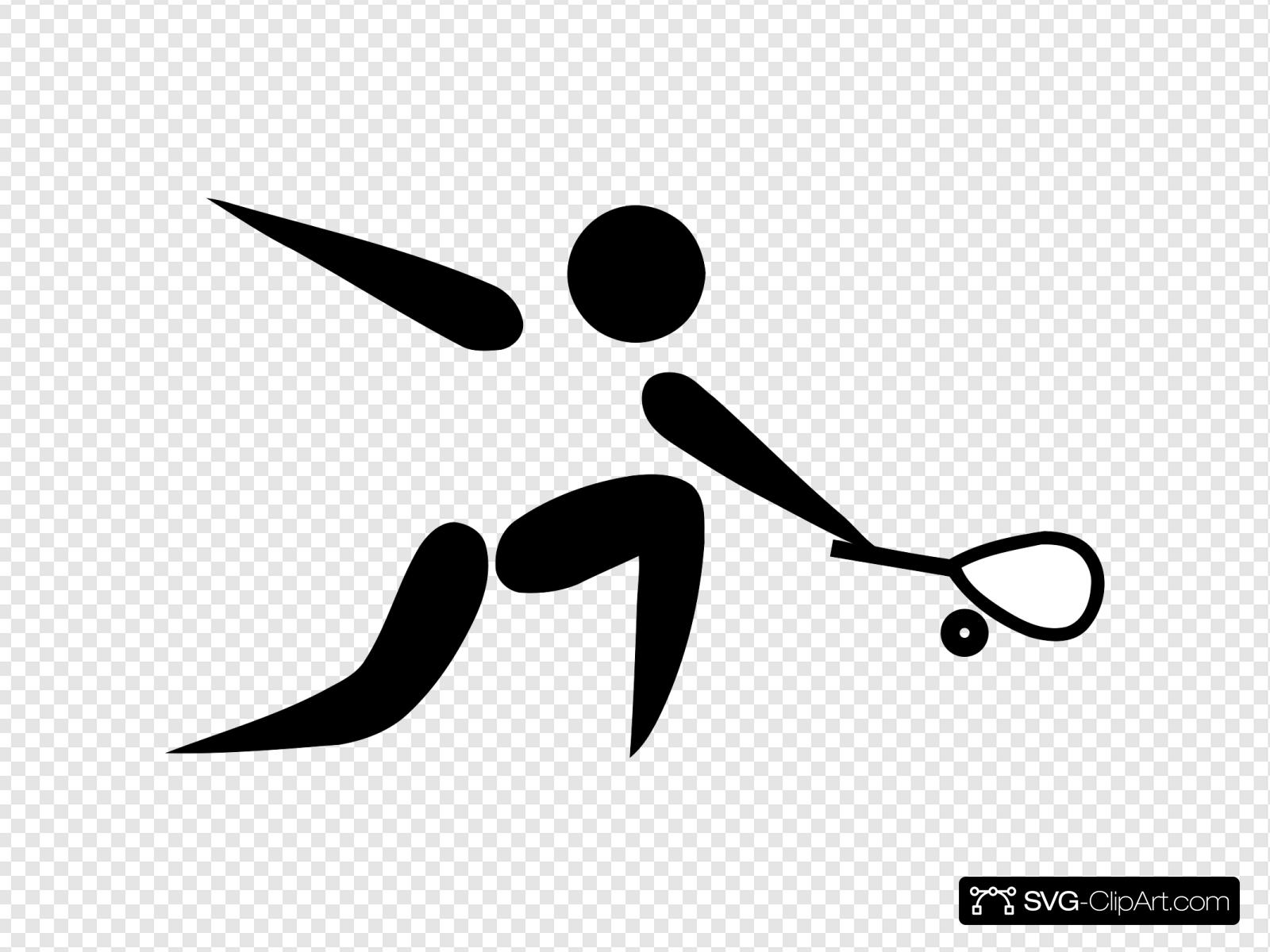 Olympic Sports Squash Pictogram Svg Vector Olympic Sports Squash Pictogram Clip Art Svg Clipart