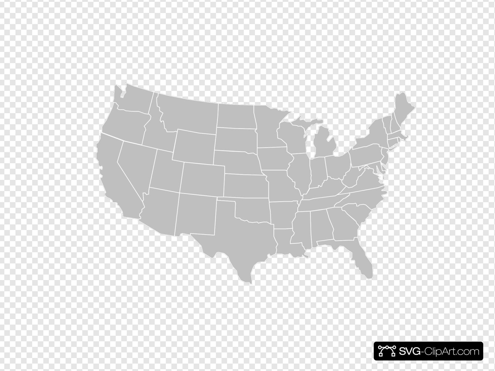 Blank Gray Usa Map White Lines Clip art, Icon and SVG - SVG ...