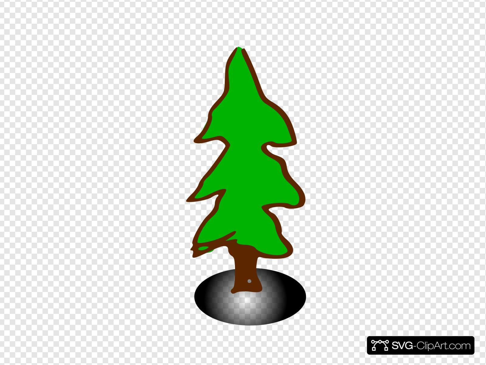 Bare Christmas Tree Svg.Tree Rpg Map Elements 5 Clip Art Icon And Svg Svg Clipart