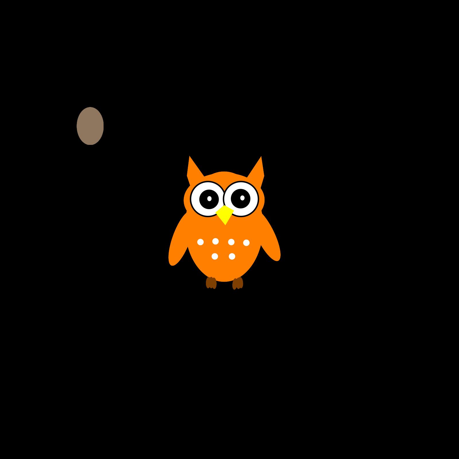 Orange Owl 2 SVG Vector, Orange Owl 2 Clip art - SVG Clipart