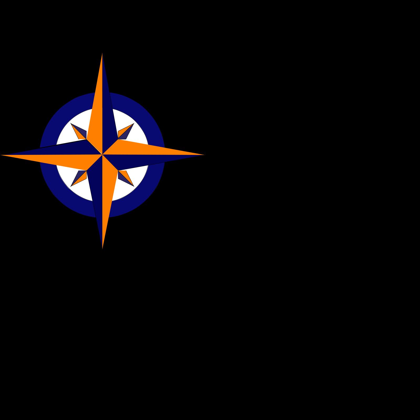 Compass blue. And orange clip art
