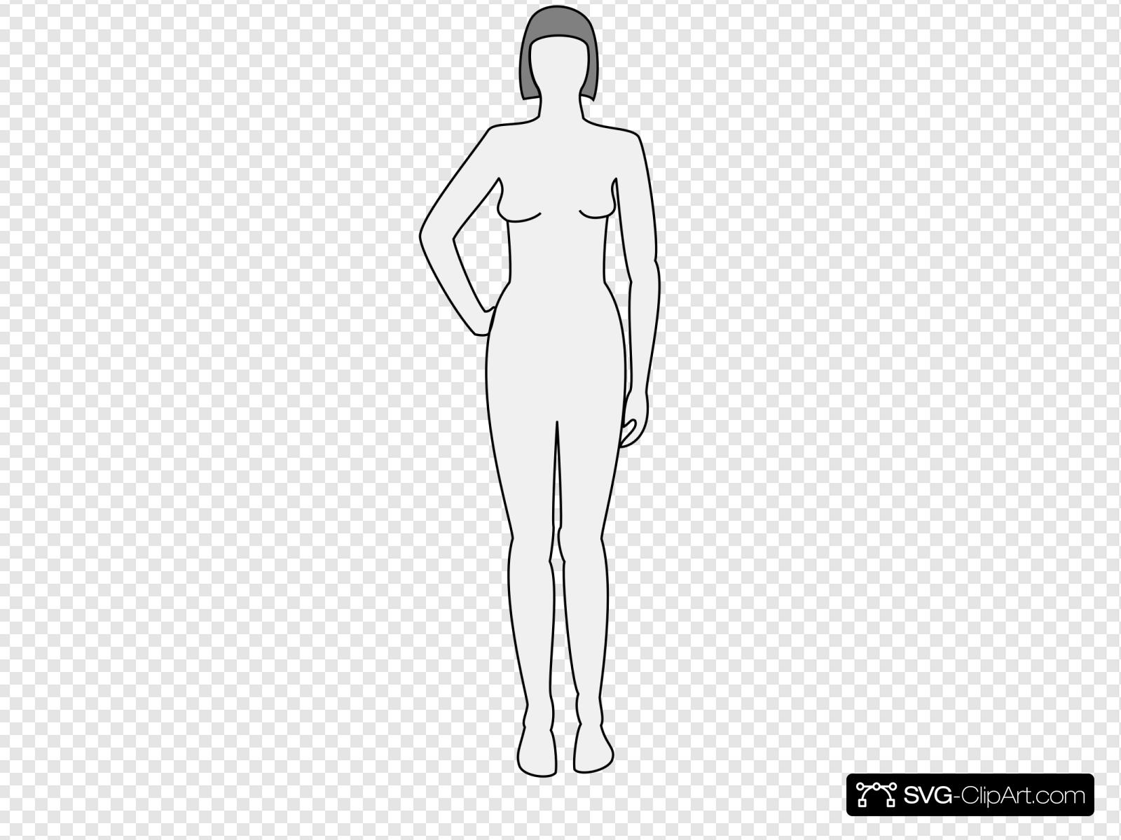 Free Female Body Template Clipart in AI, SVG, EPS or PSD
