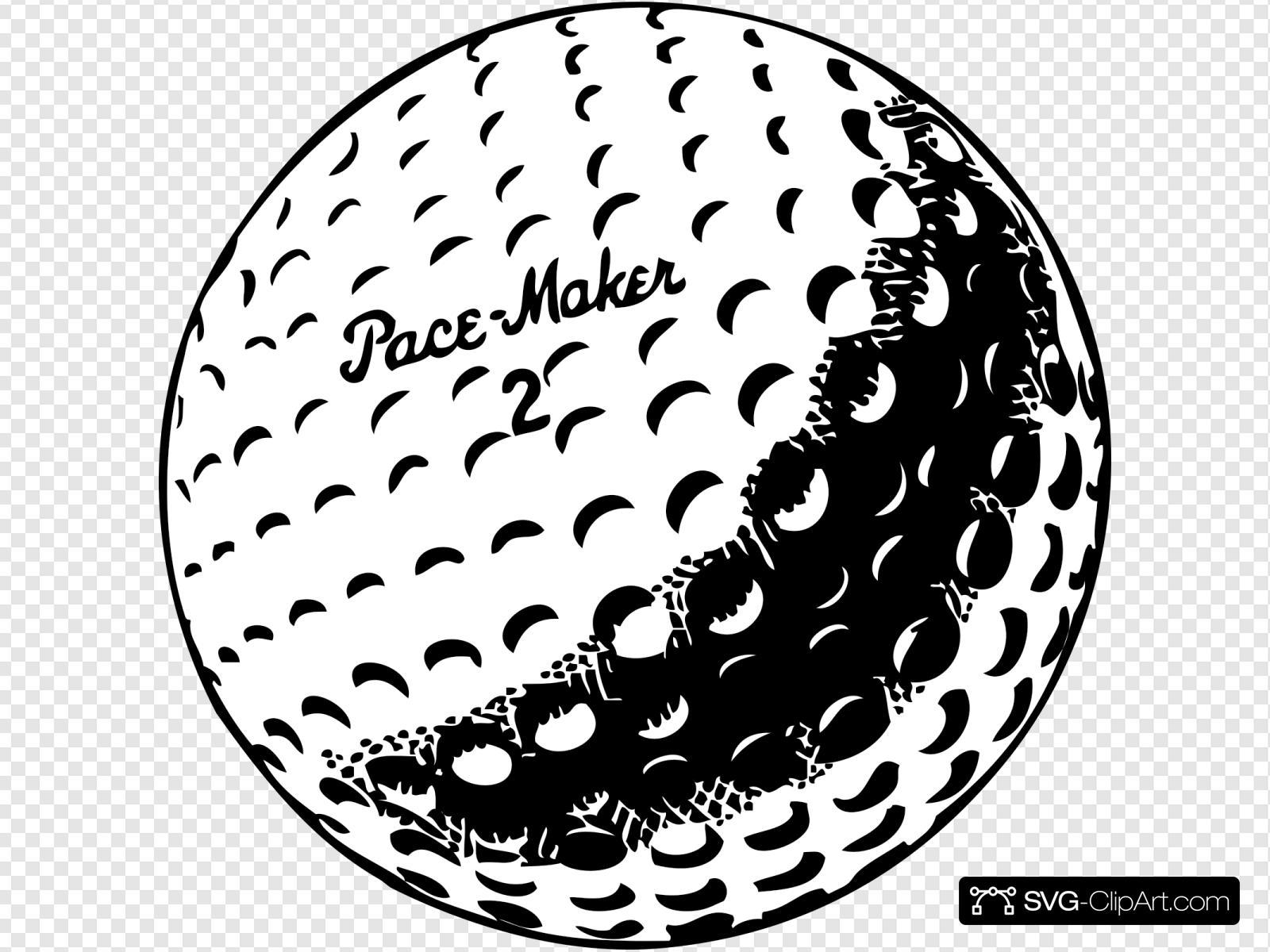 Golfball Svg Vector Golfball Clip Art Svg Clipart