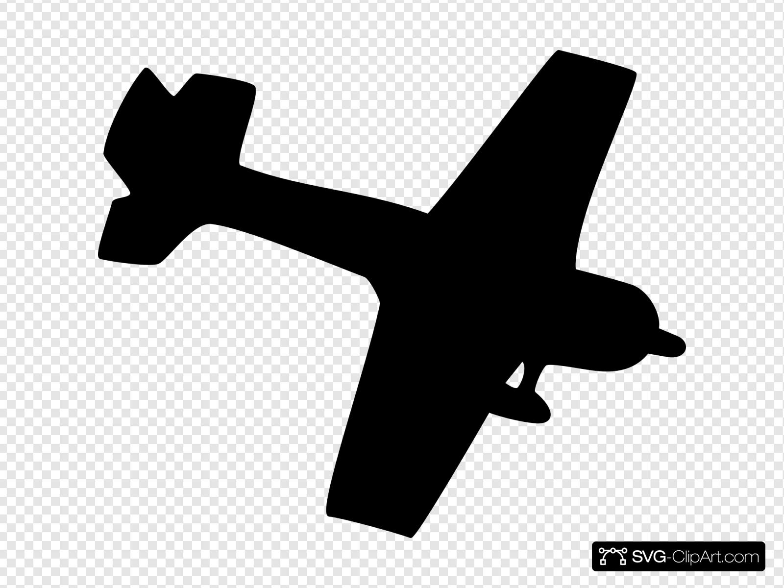Silhouette Plane Svg Vector Silhouette Plane Clip Art Svg Clipart