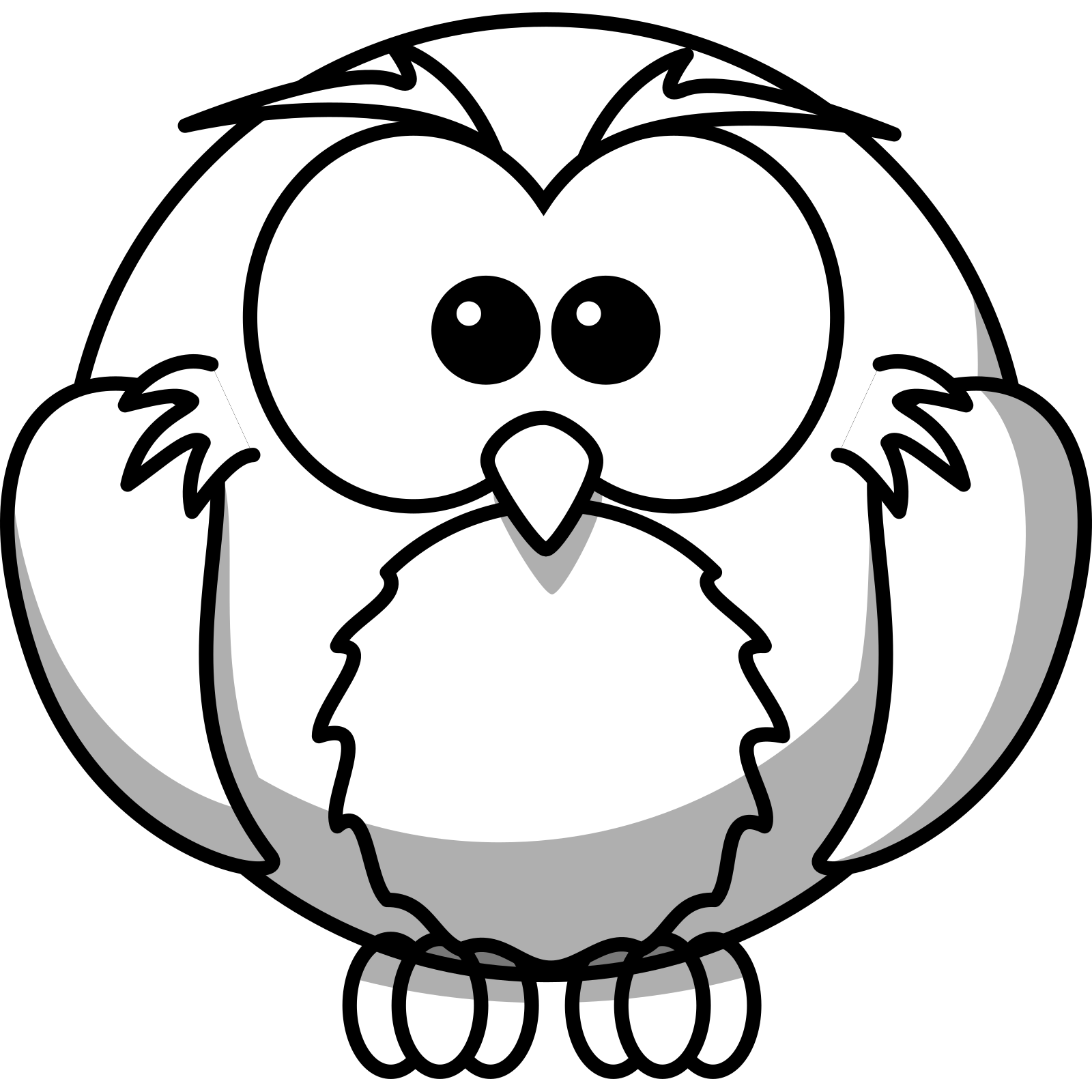 Coloring page outline of owl Clipart Image