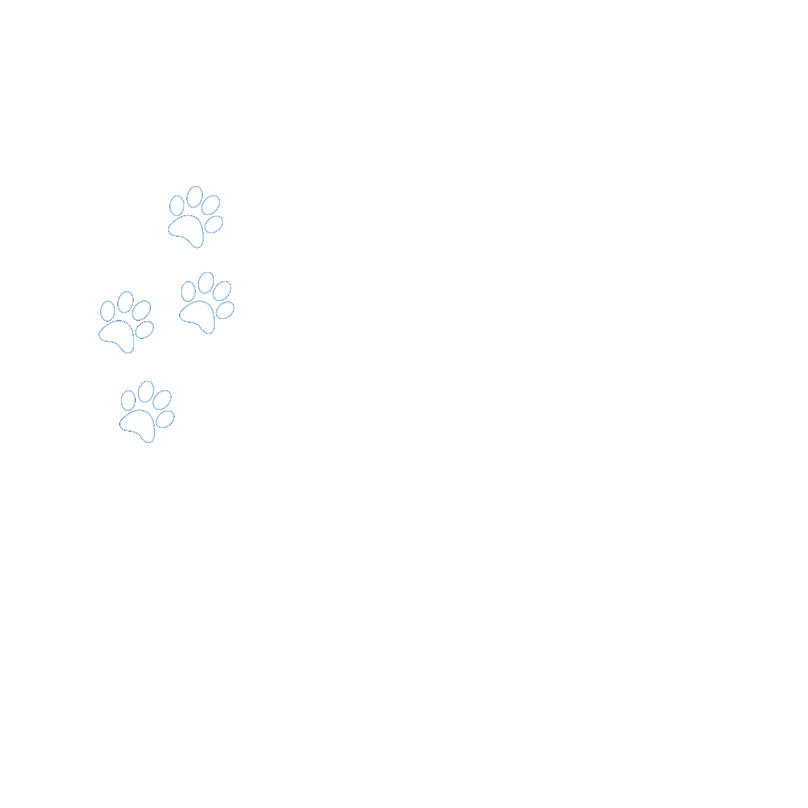 Four Paw Outline Clip art, Icon and SVG - SVG Clipart