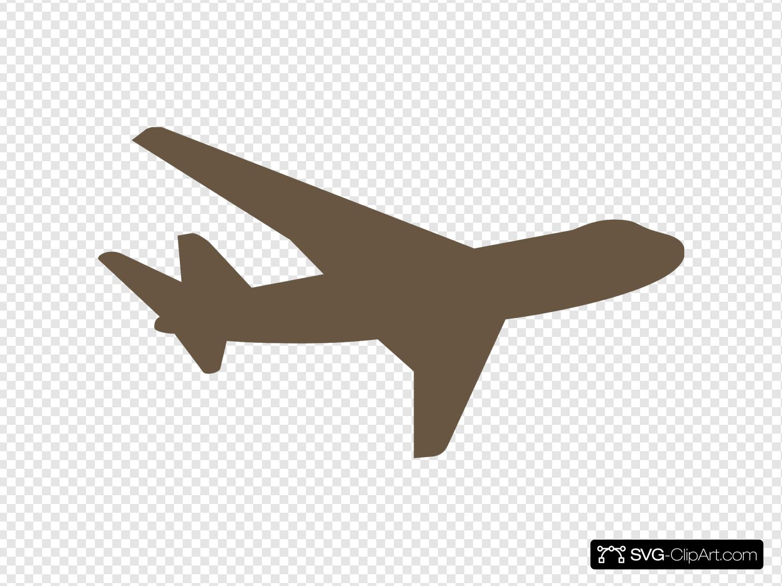Brown Plane Clip Art Icon And Svg Svg Clipart