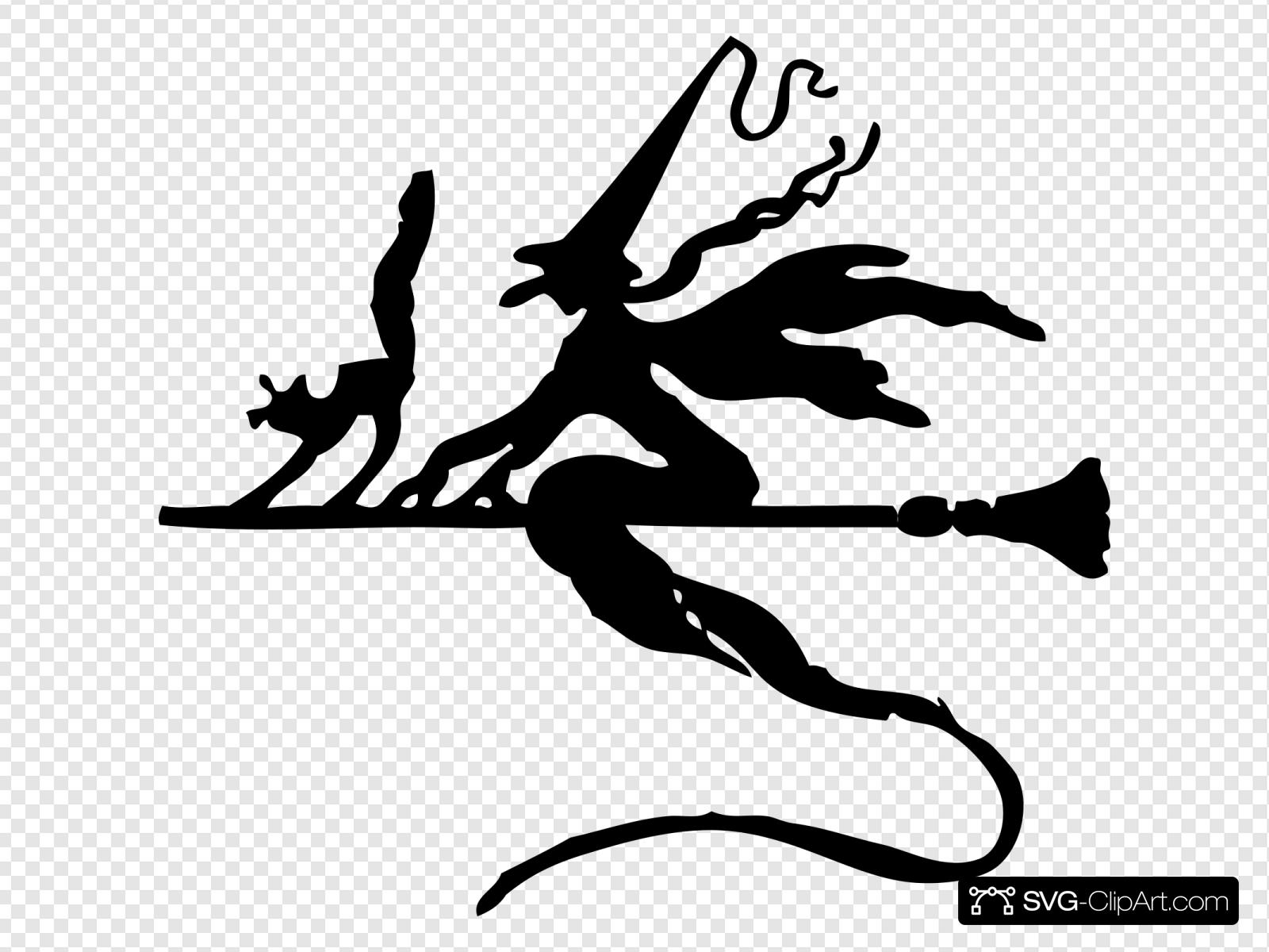 Witch On A Broom Stick Svg Vector Witch On A Broom Stick Clip Art Svg Clipart
