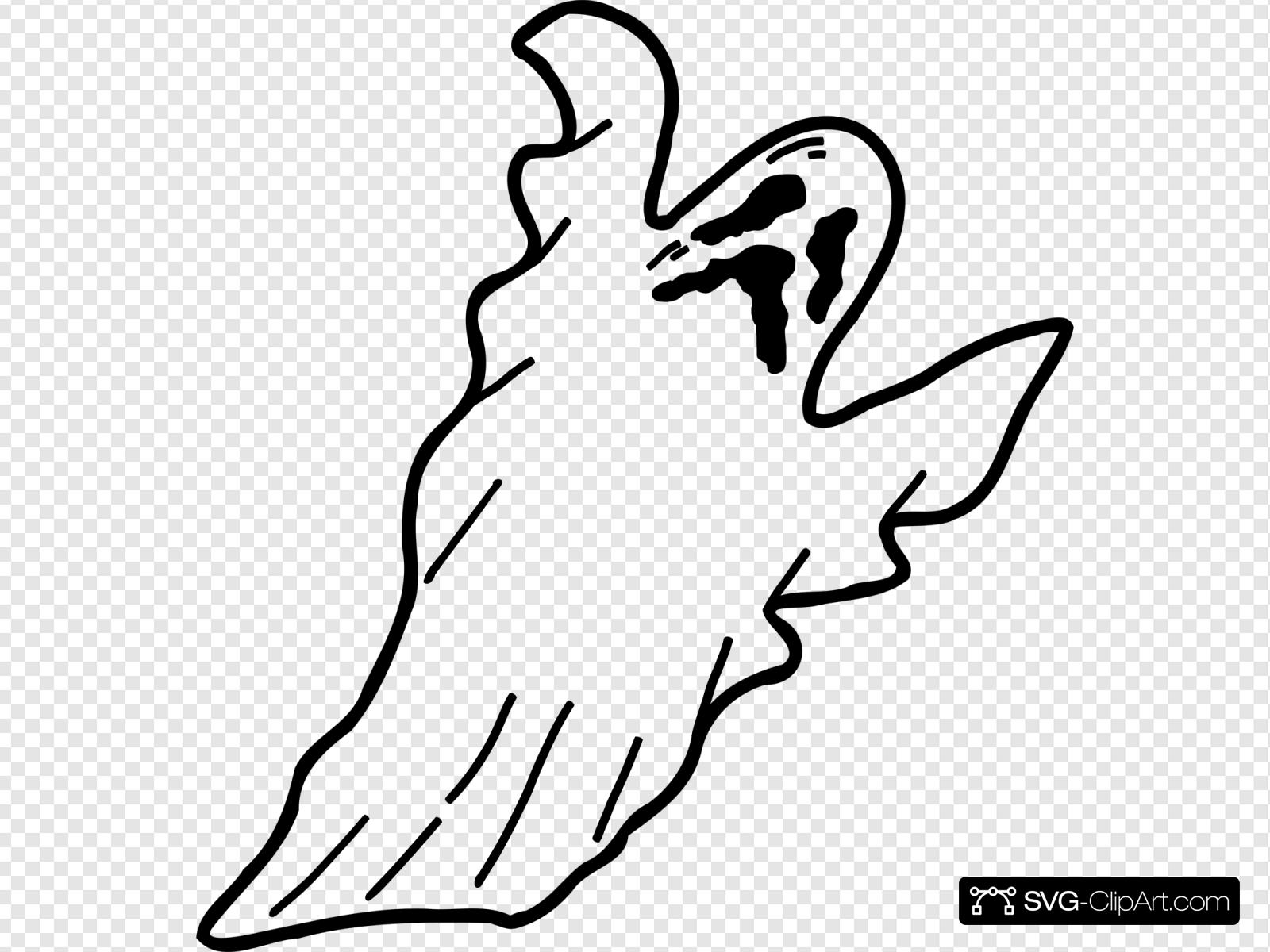 Scary Ghost Svg Vector Scary Ghost Clip Art Svg Clipart