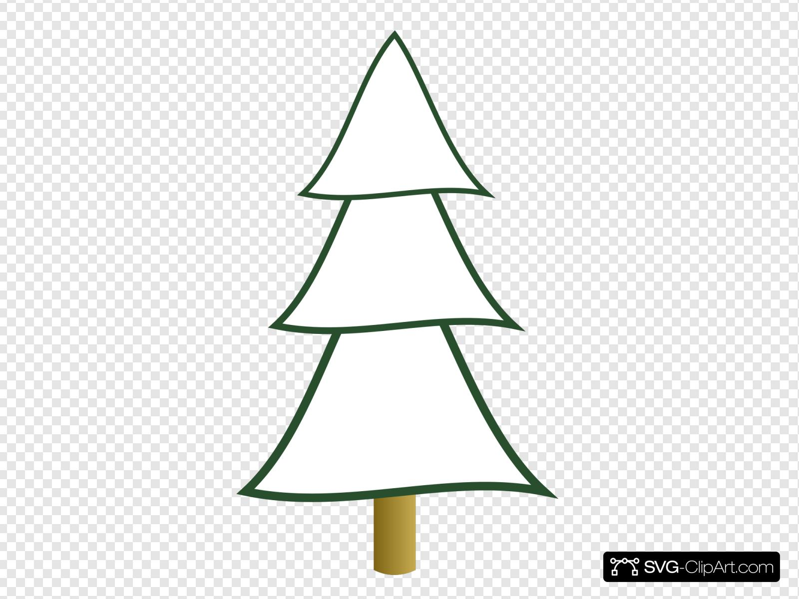 Christmas Tree Clipart Outline.Outline Christmas Tree 3 Layers Clip Art Icon And Svg Svg