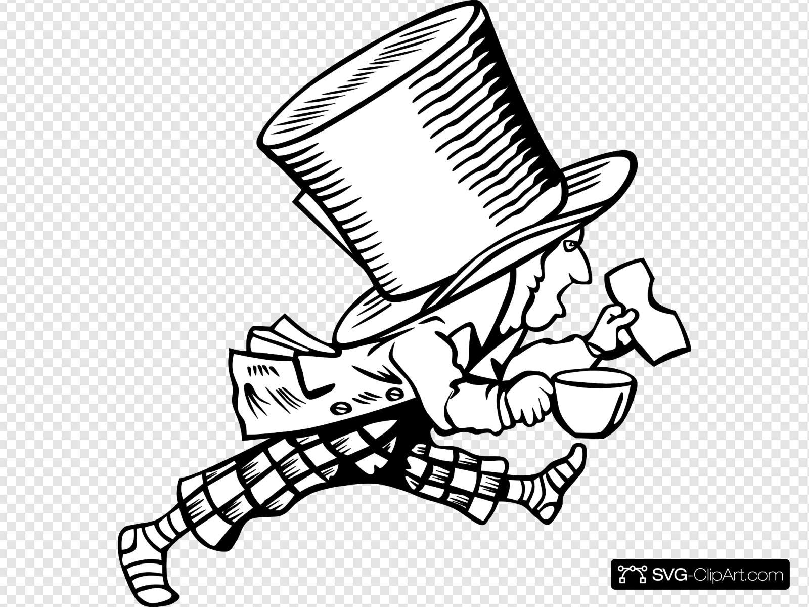 Mad Hatter 4 Svg Vector Mad Hatter 4 Clip Art Svg Clipart