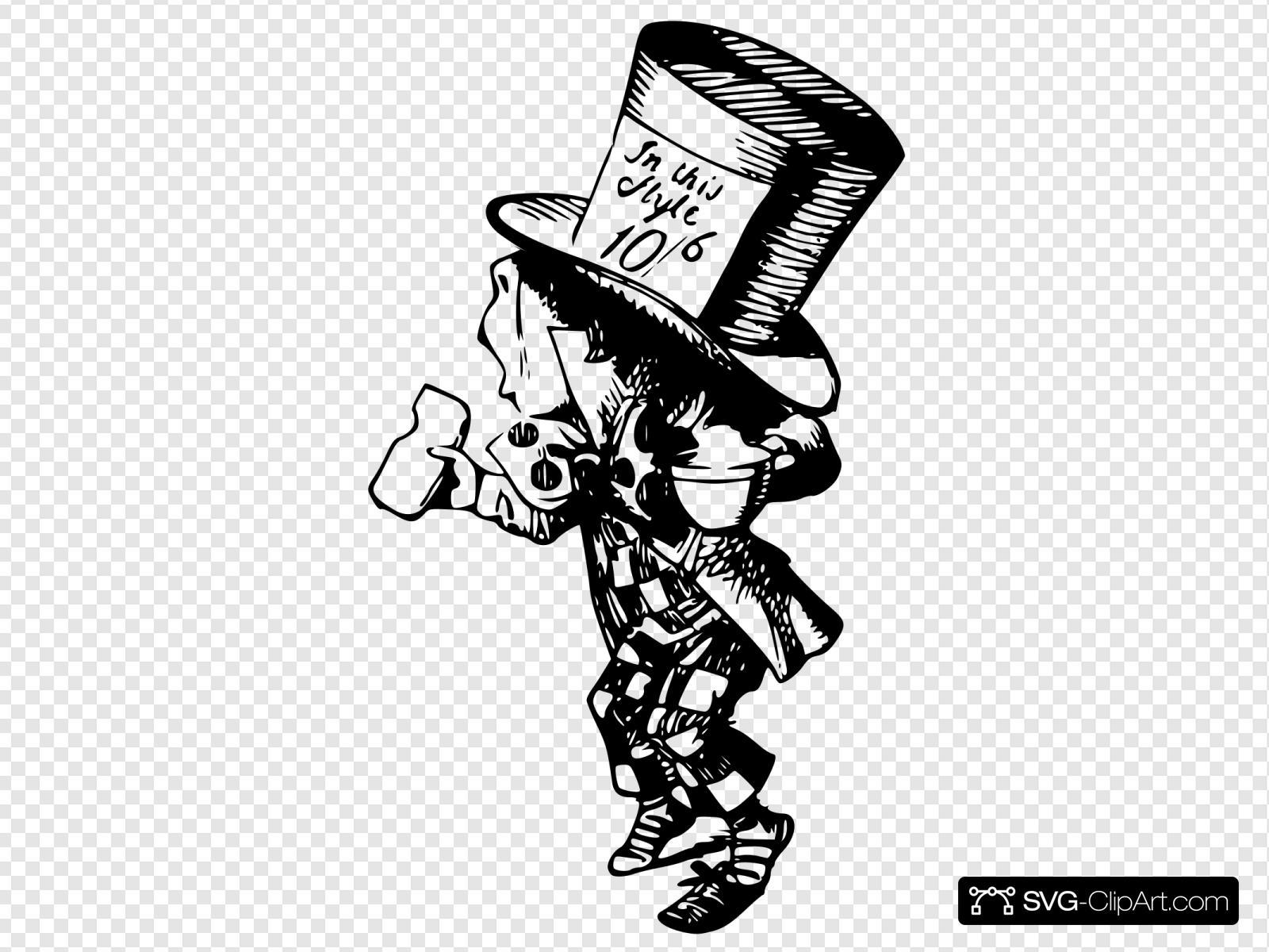 Mad Hatter 5 Svg Vector Mad Hatter 5 Clip Art Svg Clipart