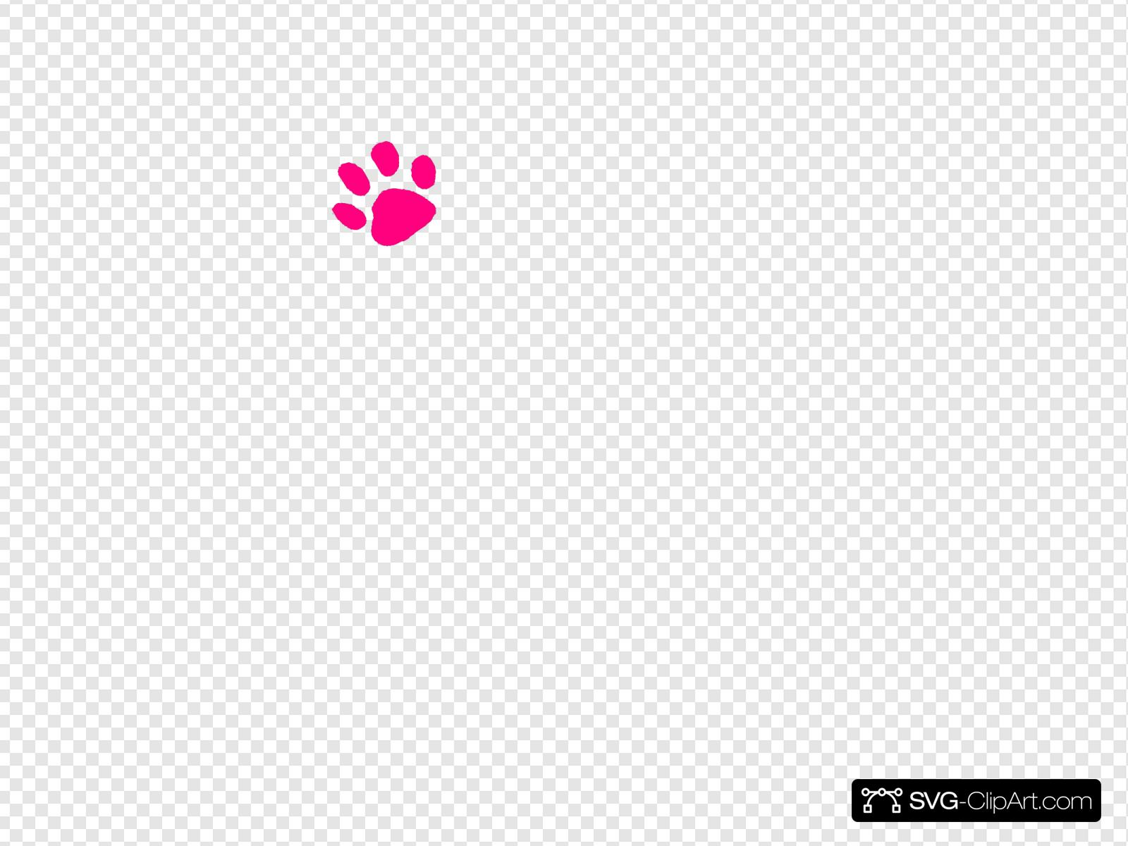 Pink Paw Print Svg Vector Pink Paw Print Clip Art Svg Clipart Try to search more transparent images related to paw print png |. svg clipart