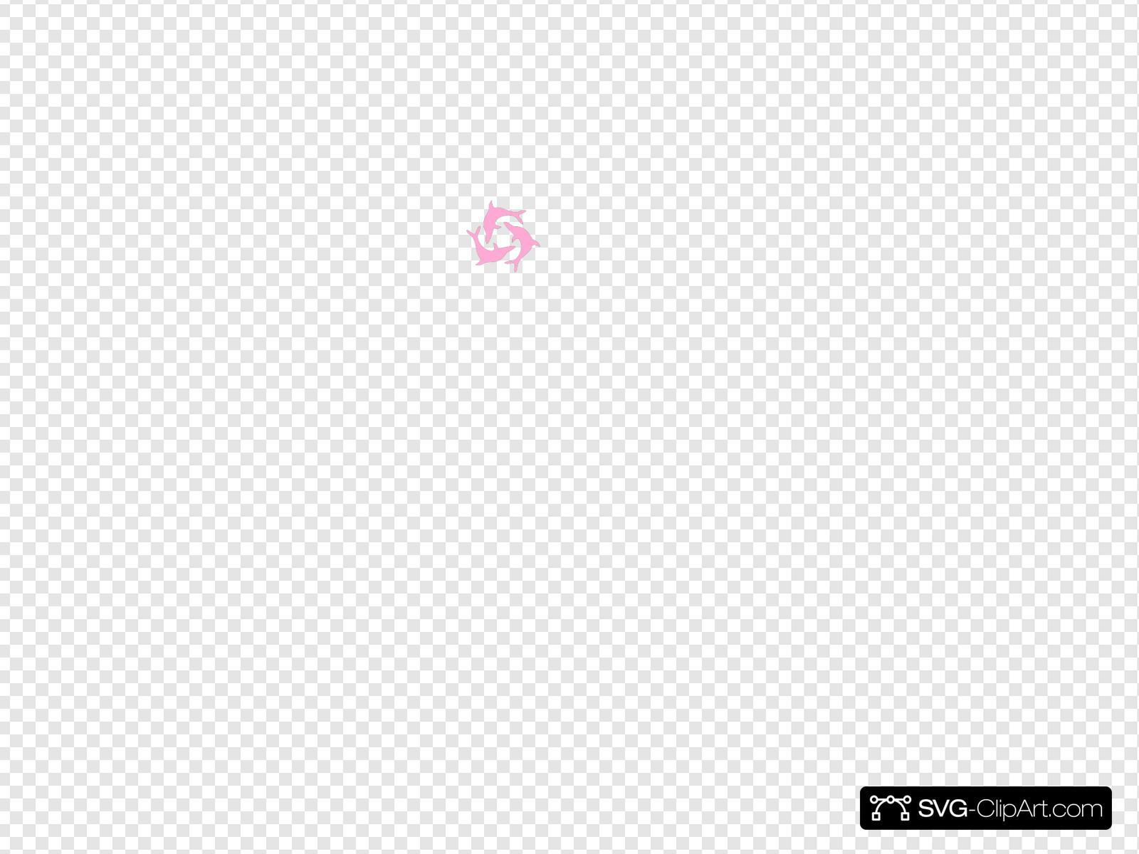 Pink Dolphin Triad Clip art, Icon and SVG - SVG Clipart