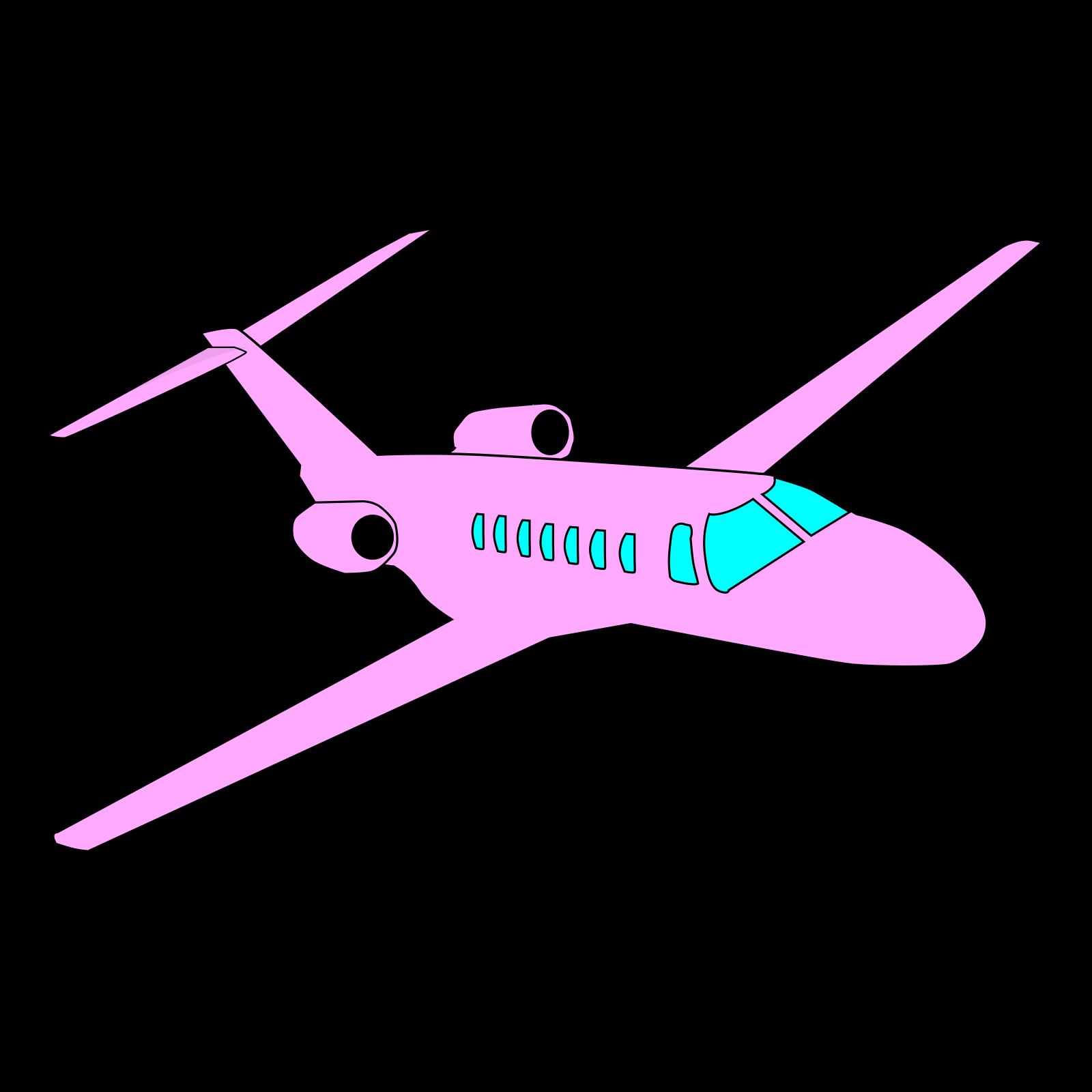 Airplane pink. Plane clip art icon