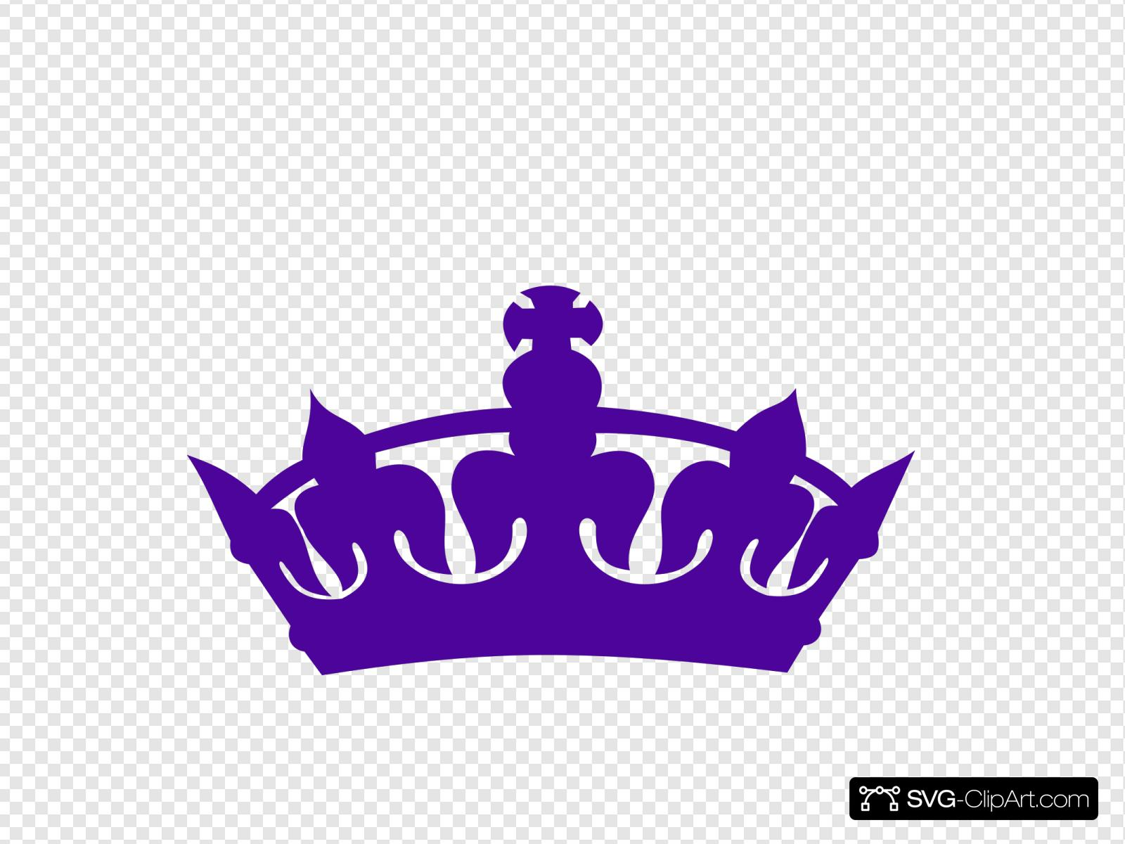 Purple crown. Clip art icon and