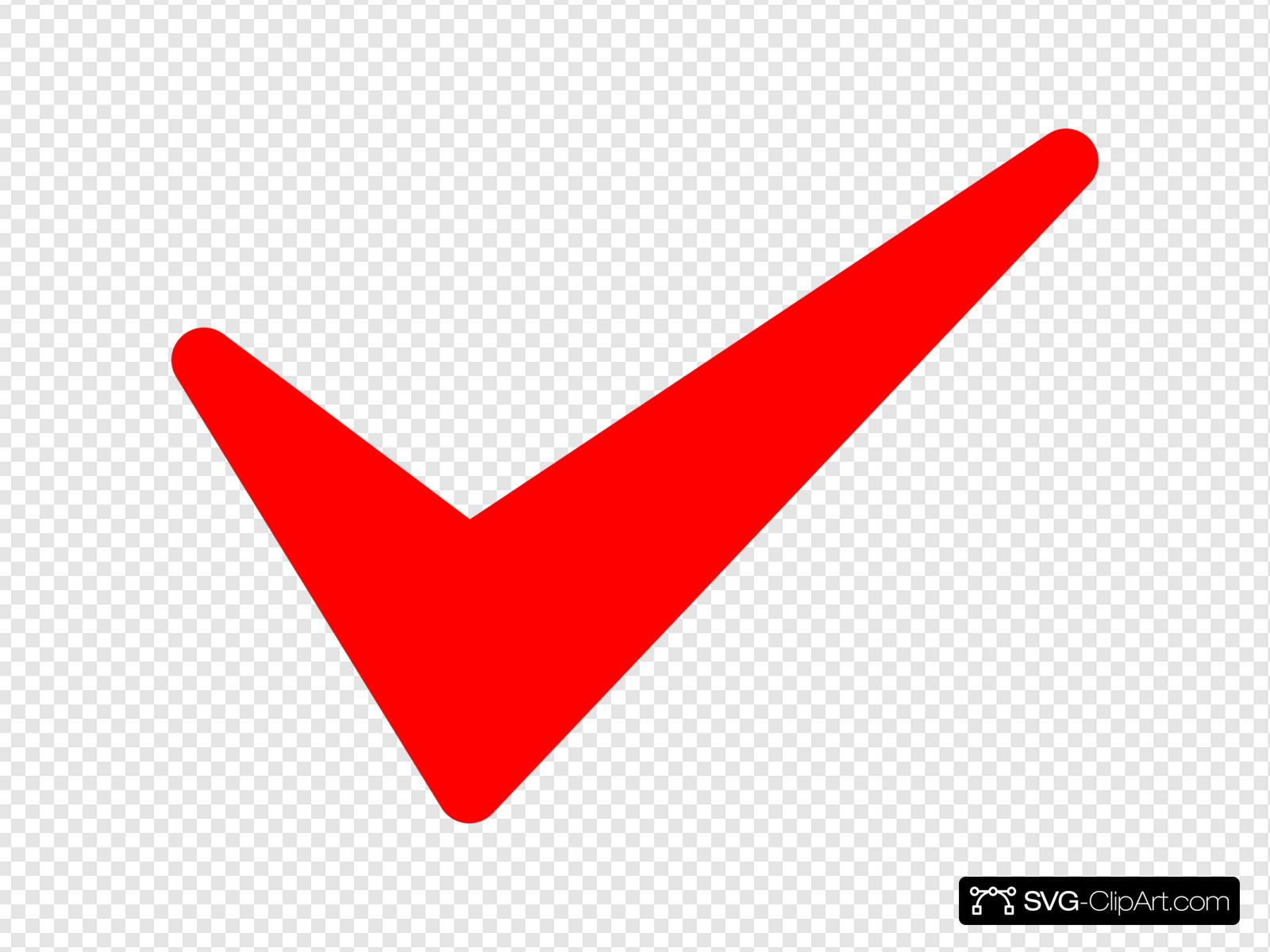 Red Tick Clip Art Icon And Svg Svg Clipart