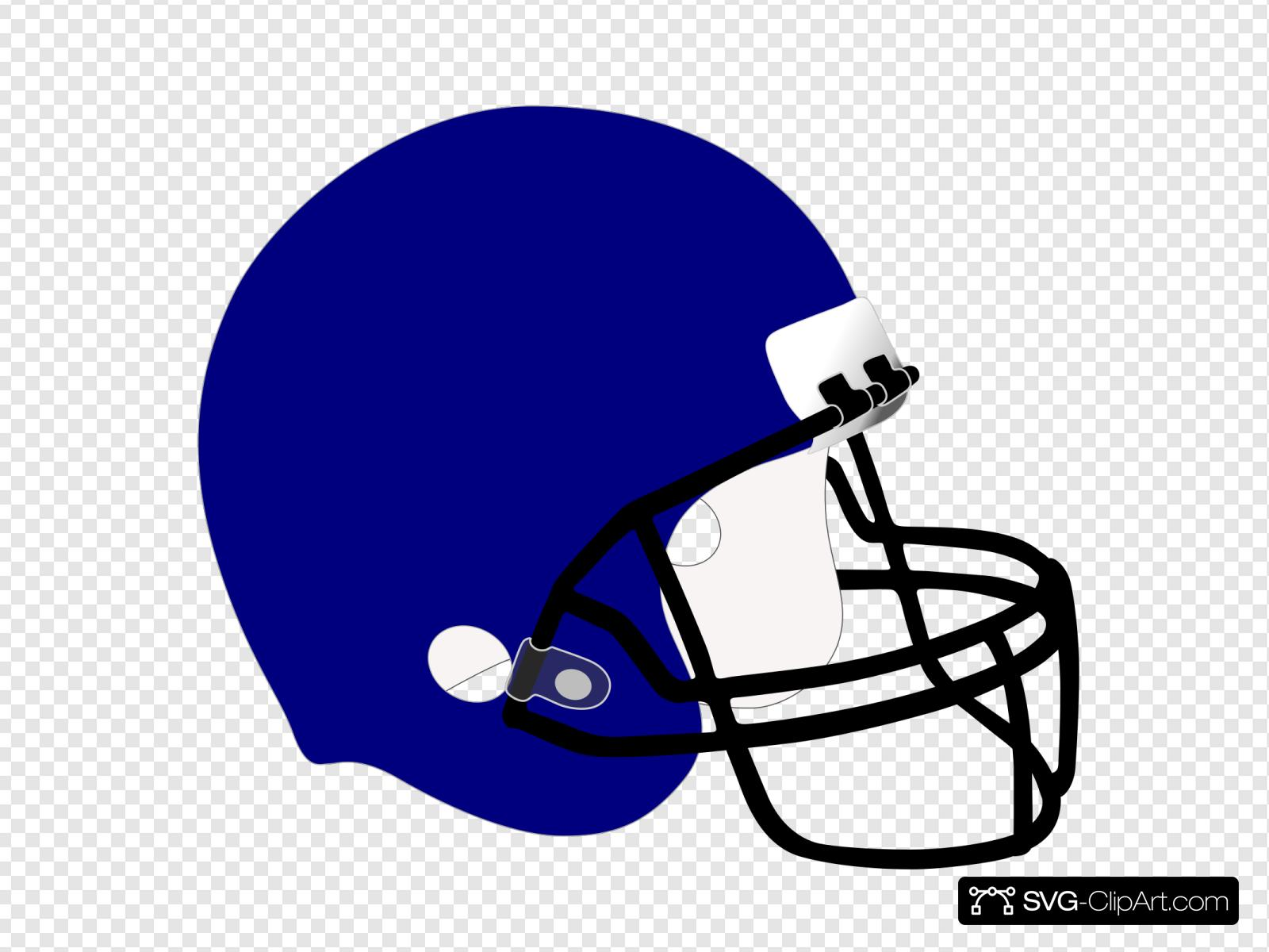 Blue Football Helmet Svg Vector Blue Football Helmet Clip Art Svg Clipart